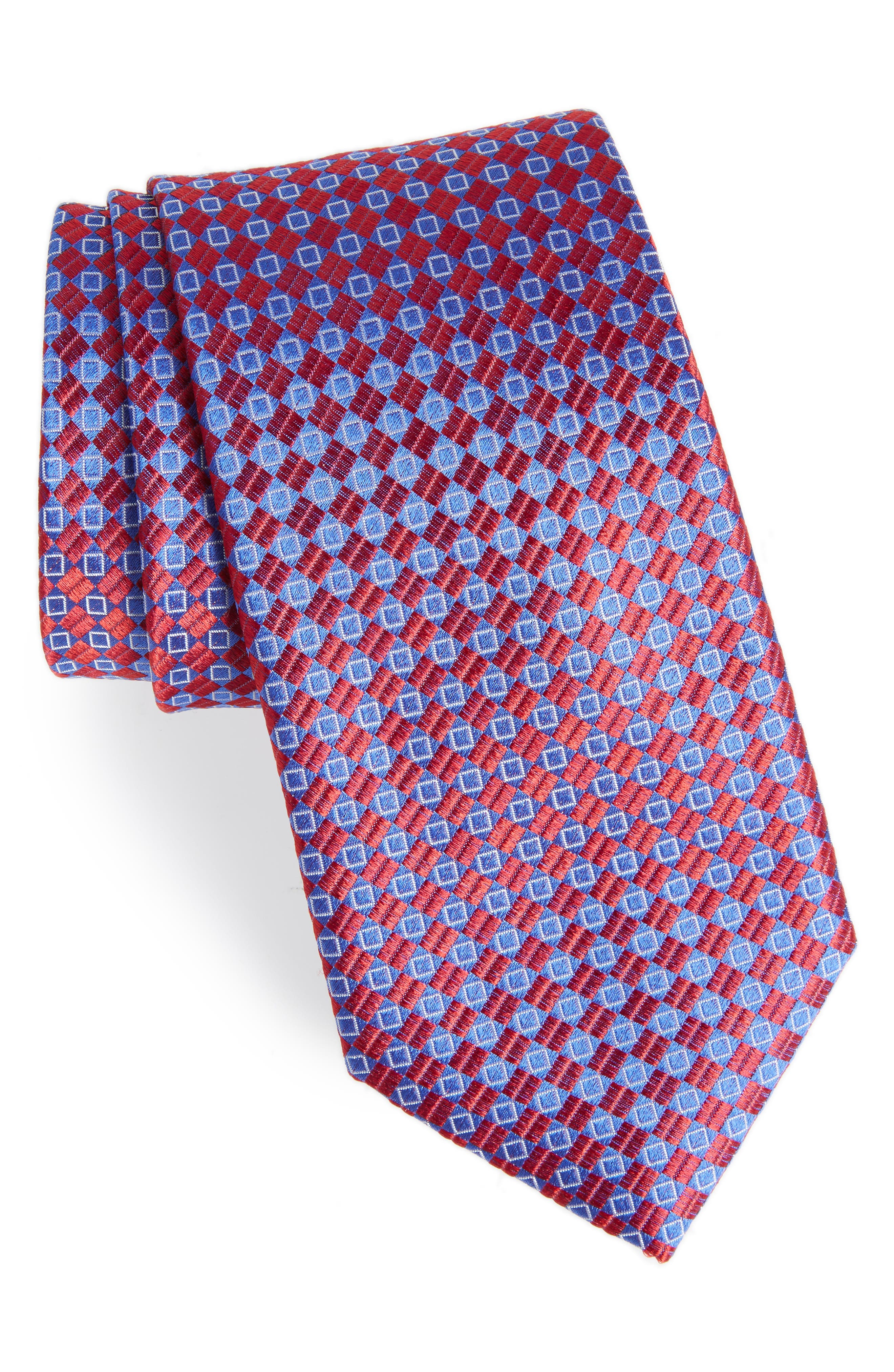 Middletown Geometric Silk Tie,                             Main thumbnail 4, color,