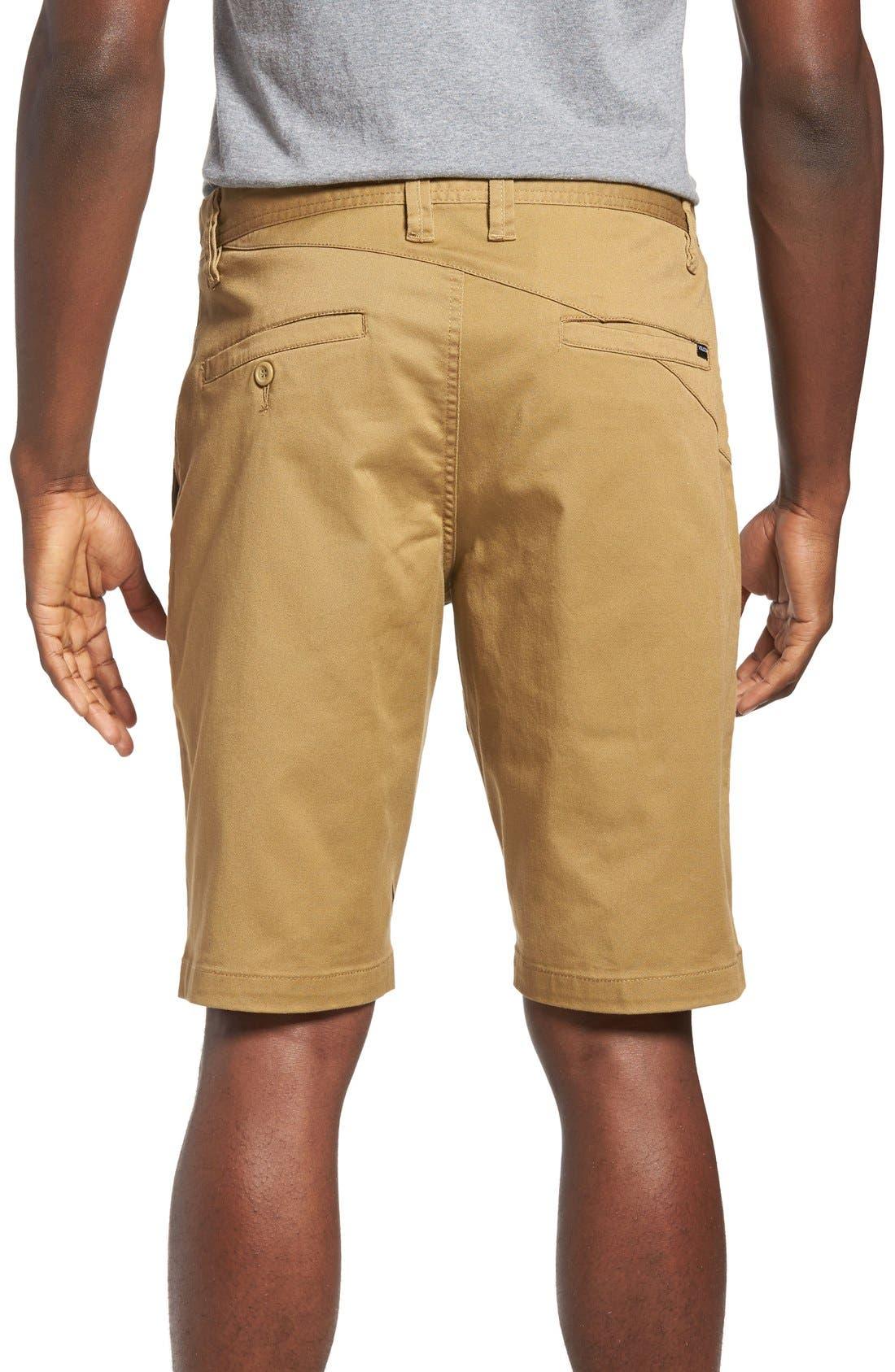 'Modern' Stretch Chino Shorts,                             Alternate thumbnail 21, color,