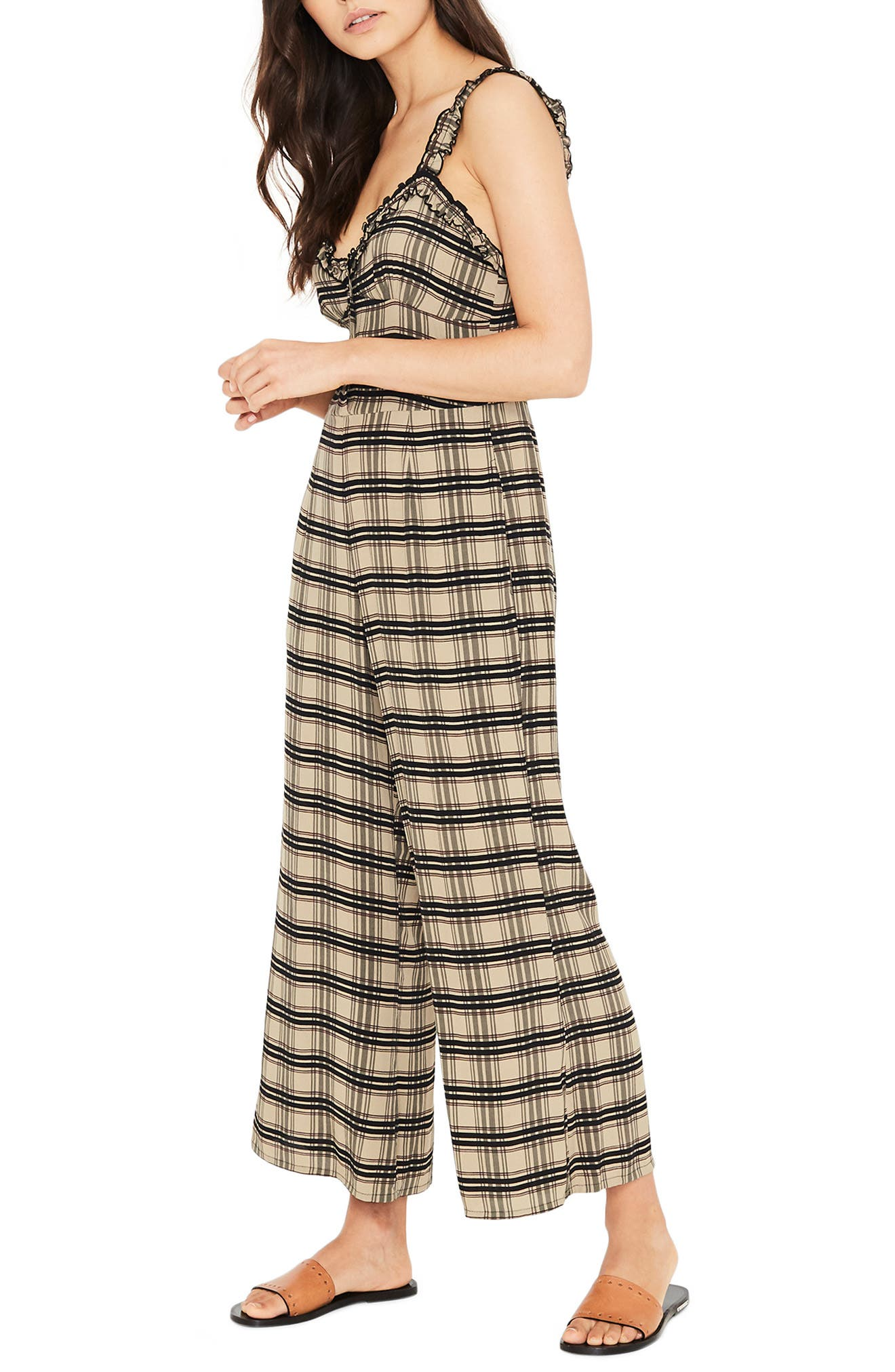 Cancun Plaid Jumpsuit,                             Alternate thumbnail 3, color,                             HILLARY PRINT