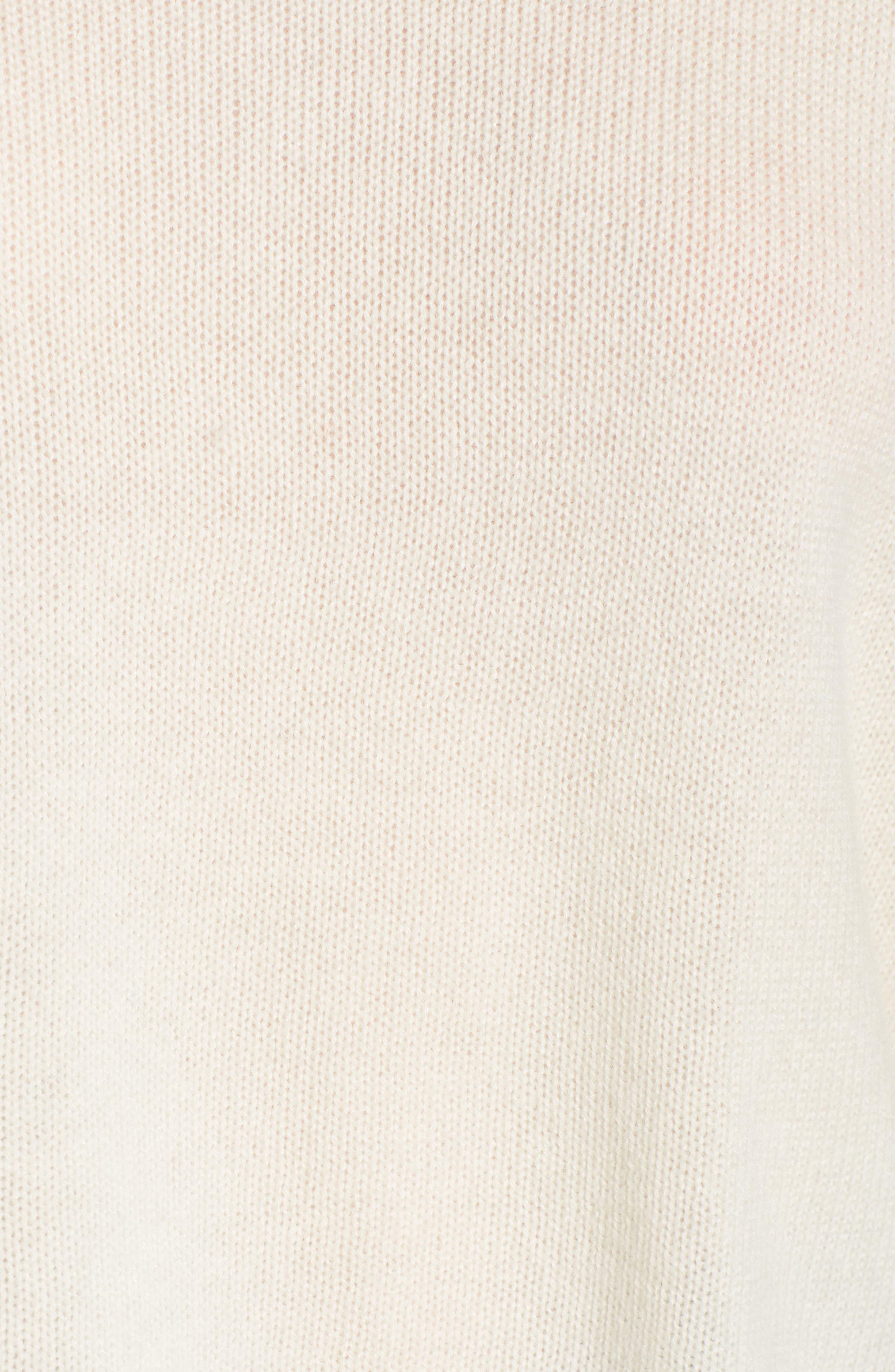 Mock Neck Cashmere Sweater,                             Alternate thumbnail 5, color,                             IVORY
