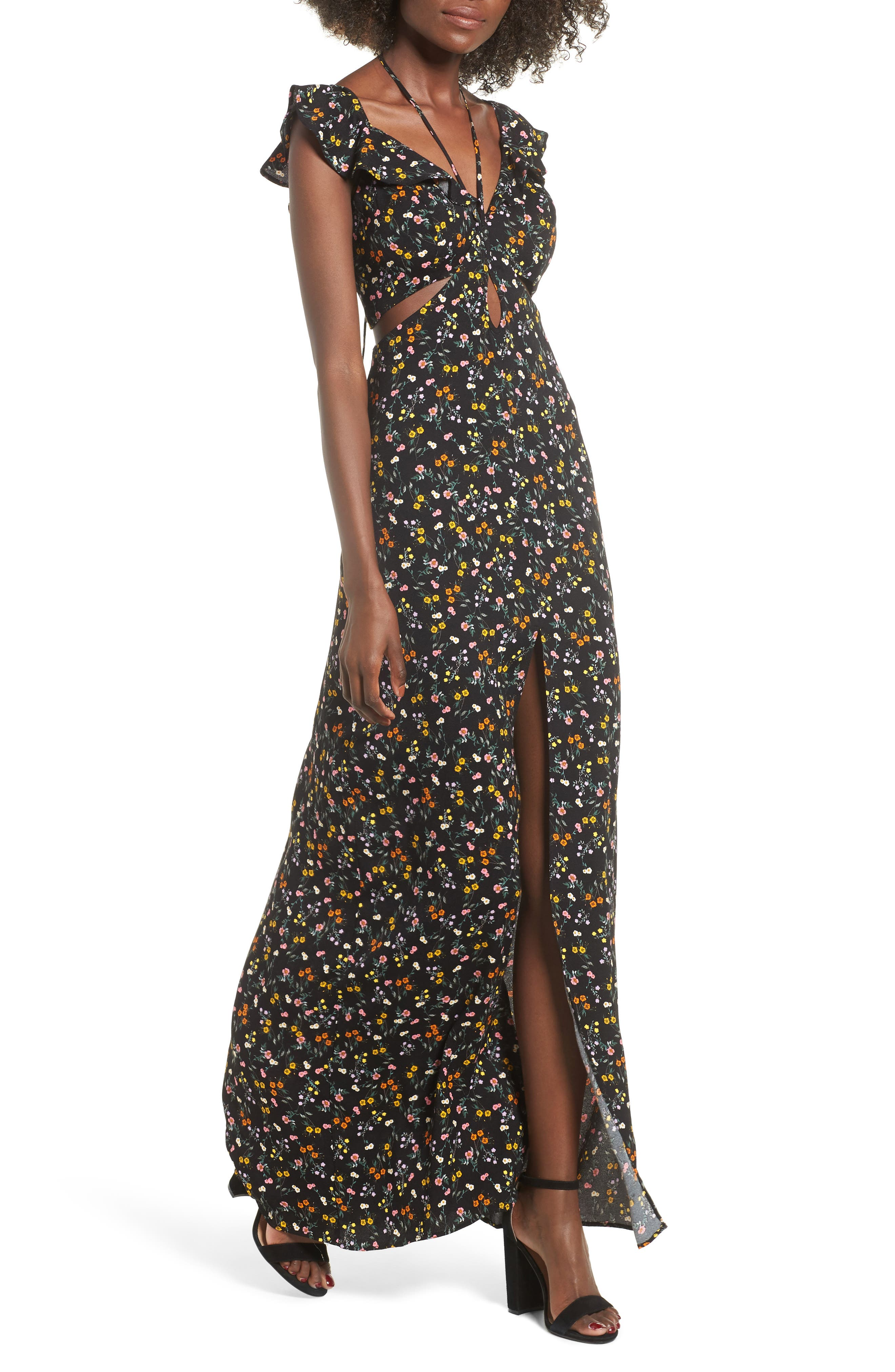 Alya Maxi Dress,                         Main,                         color, 001