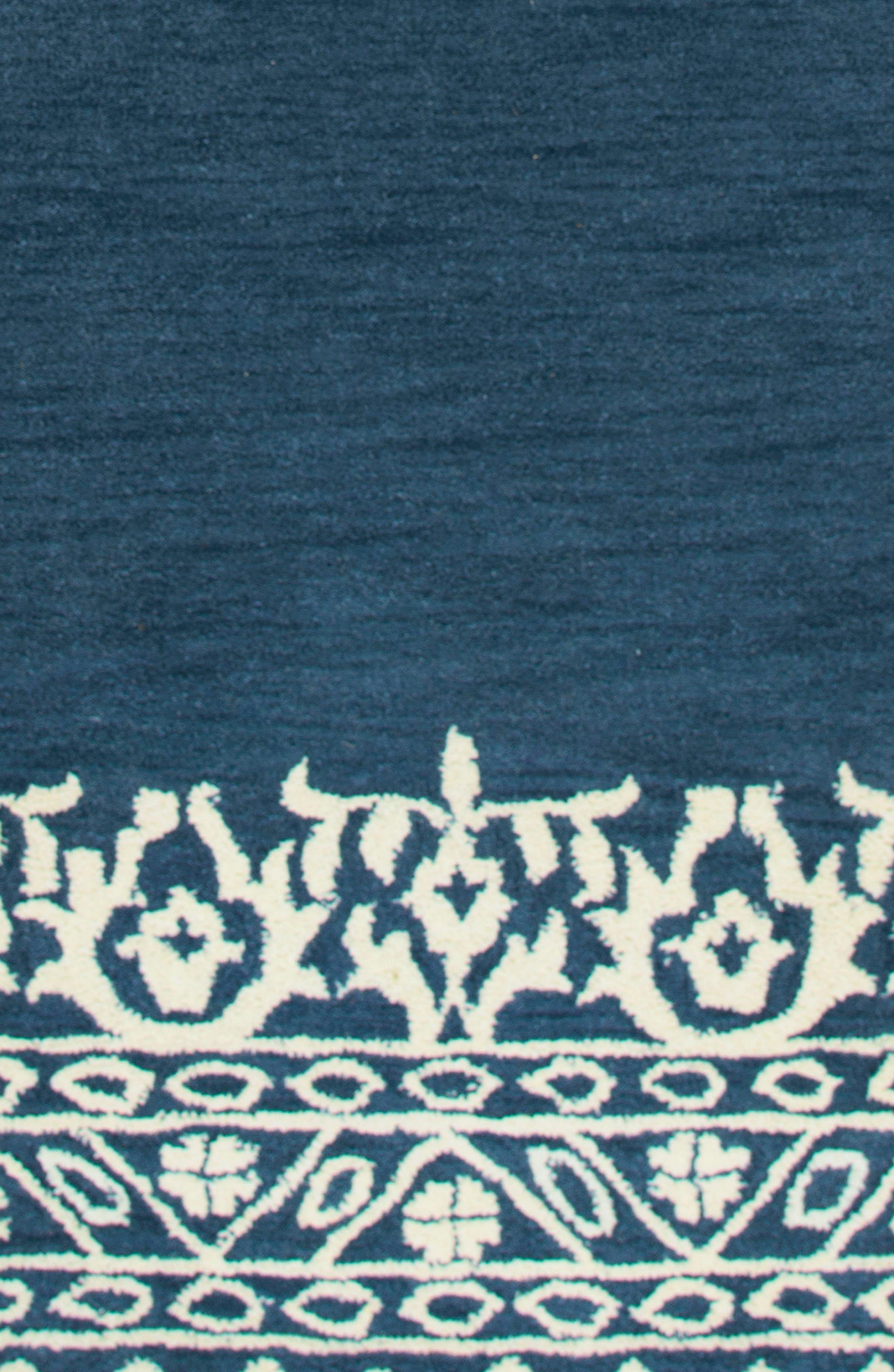 Framed Medallion Hand Tufted Wool Area Rug,                             Alternate thumbnail 3, color,                             400