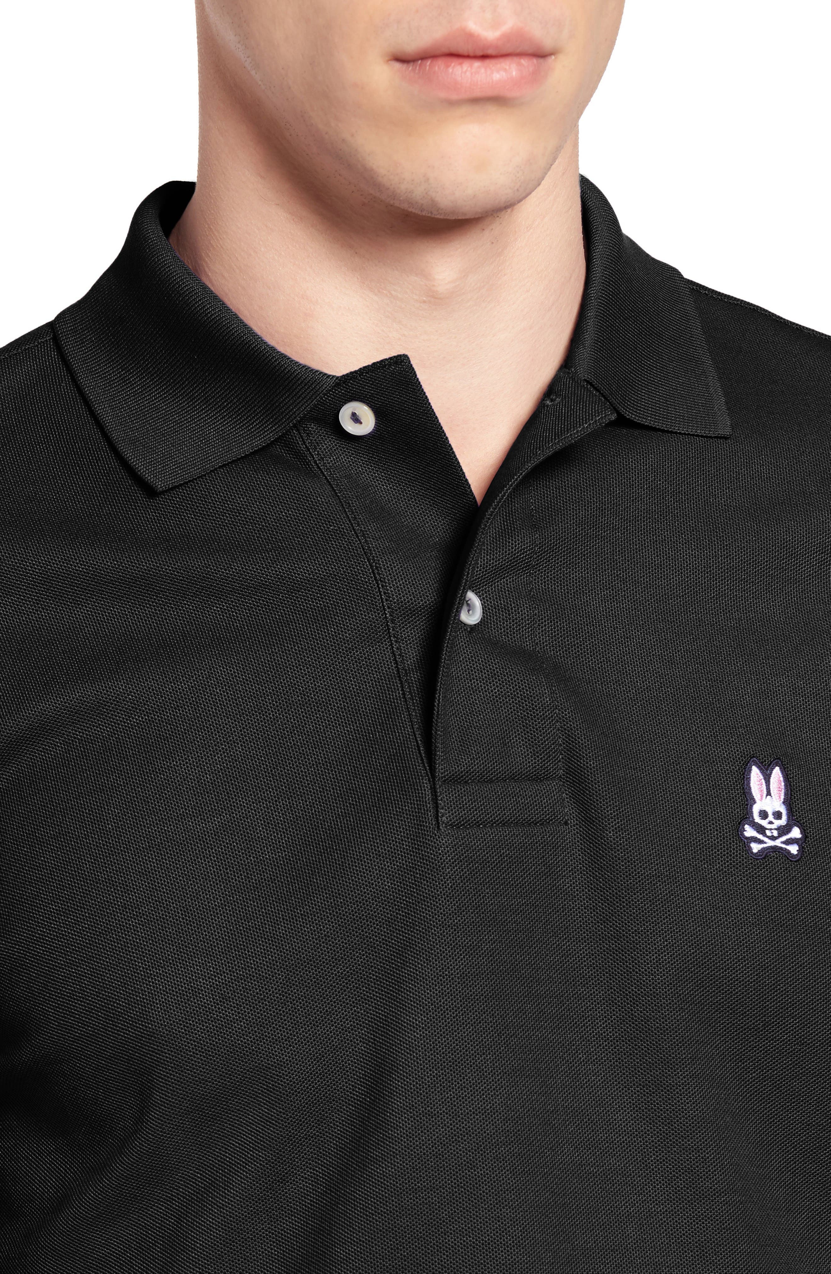 The Classic Piqué Polo,                             Alternate thumbnail 4, color,                             BLACK