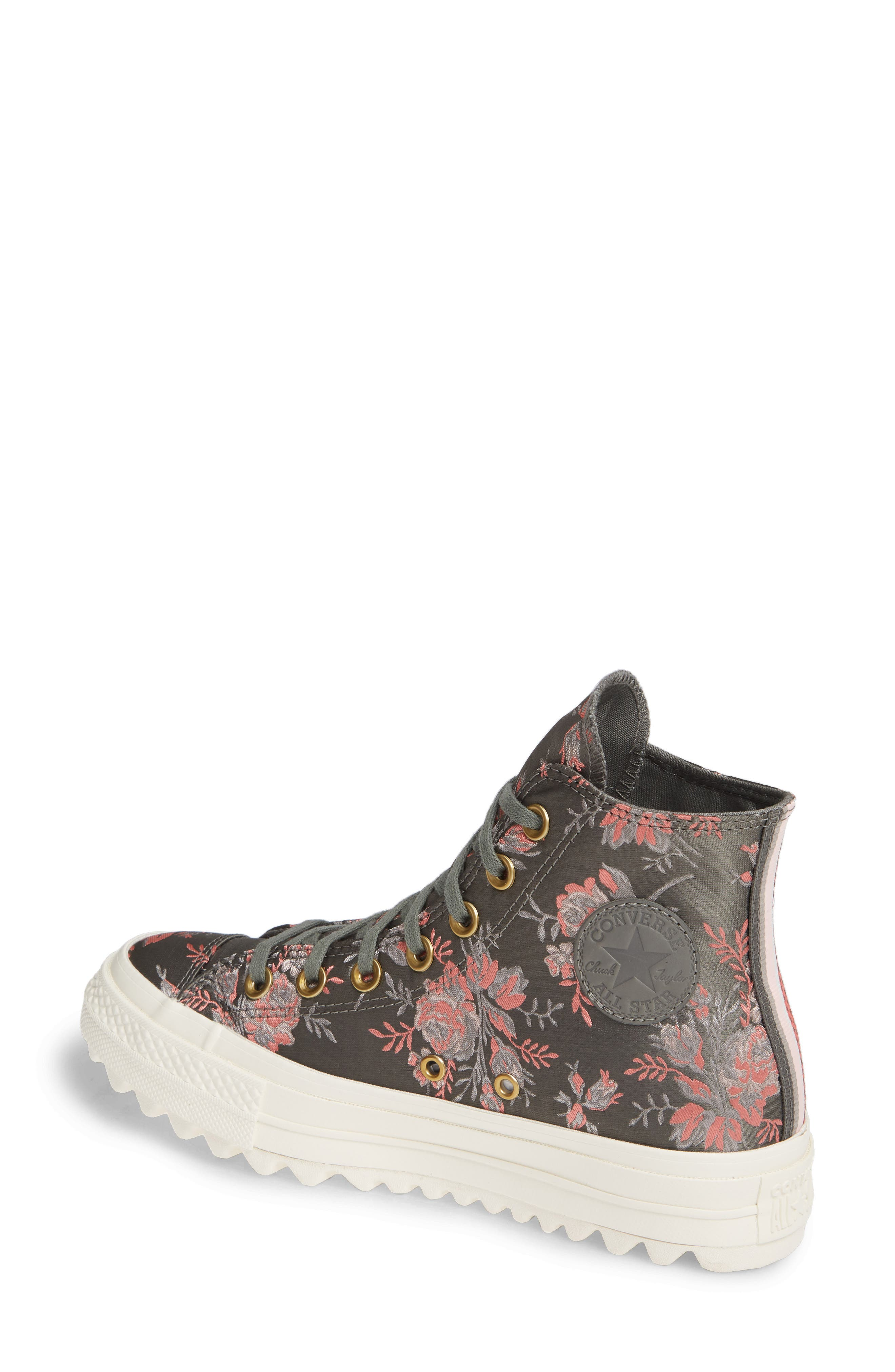 Chuck Taylor<sup>®</sup> All Star<sup>®</sup> Lift Ripple Parkway Floral High Top Sneaker,                             Alternate thumbnail 2, color,                             020