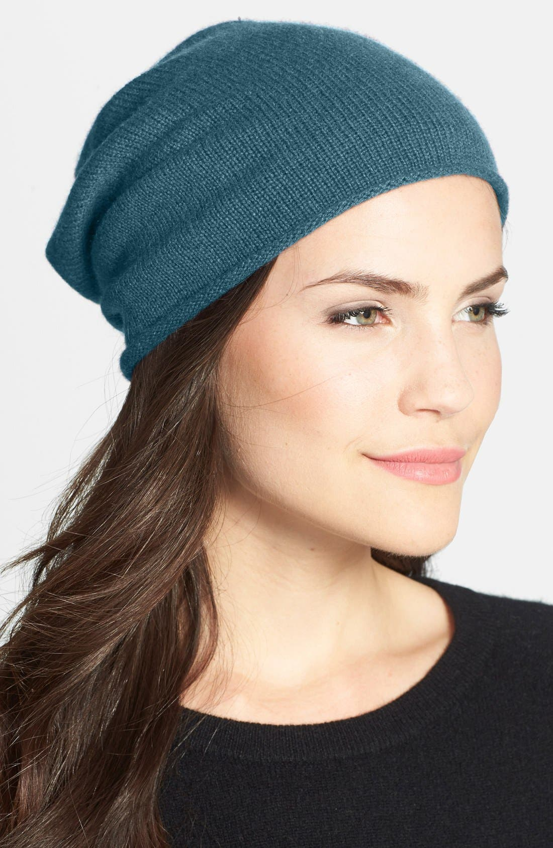 Slouchy Cashmere Beanie,                             Main thumbnail 14, color,