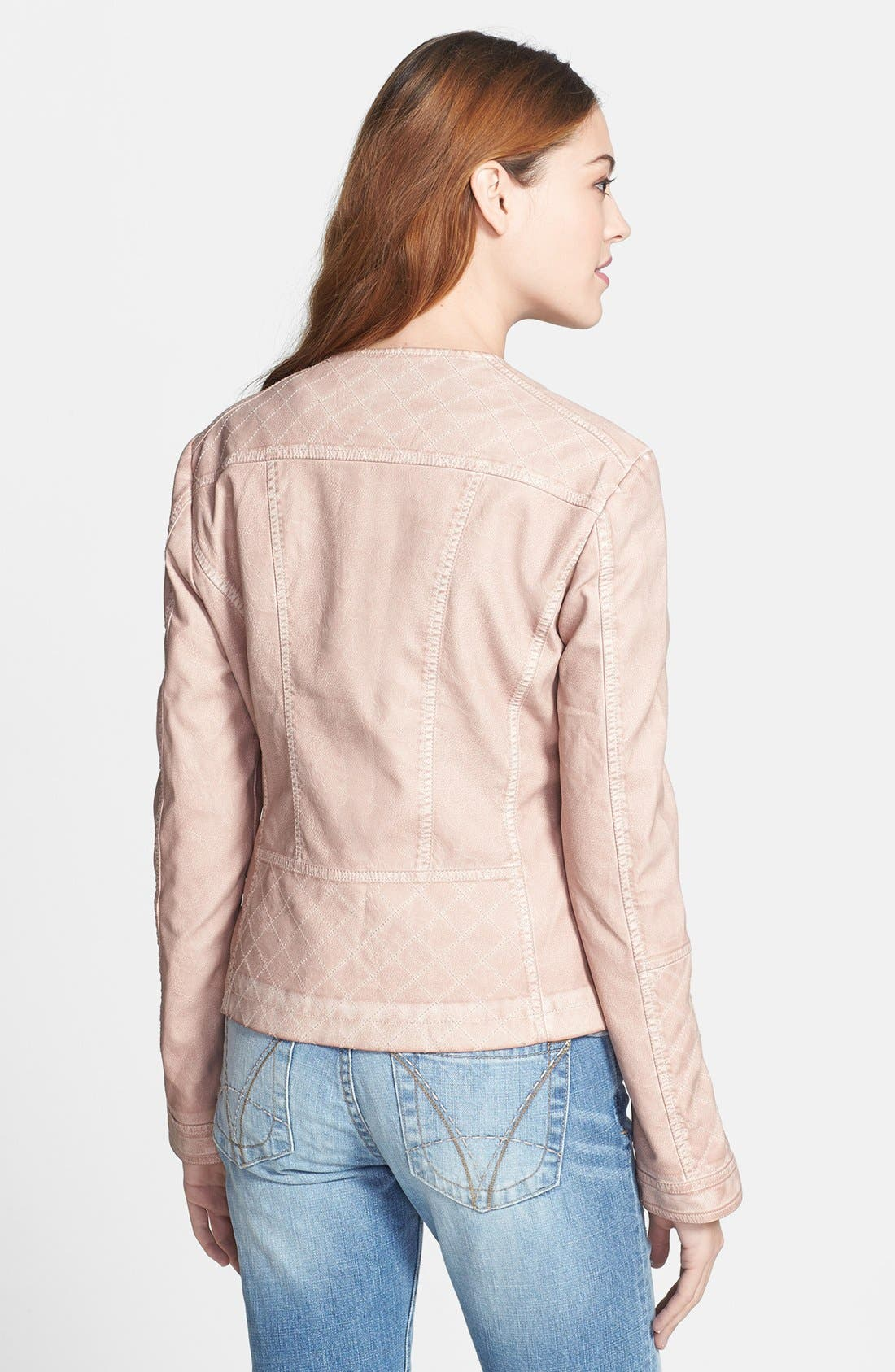 LIVE A LITTLE,                             Quilted Faux Leather Jacket,                             Alternate thumbnail 2, color,                             681