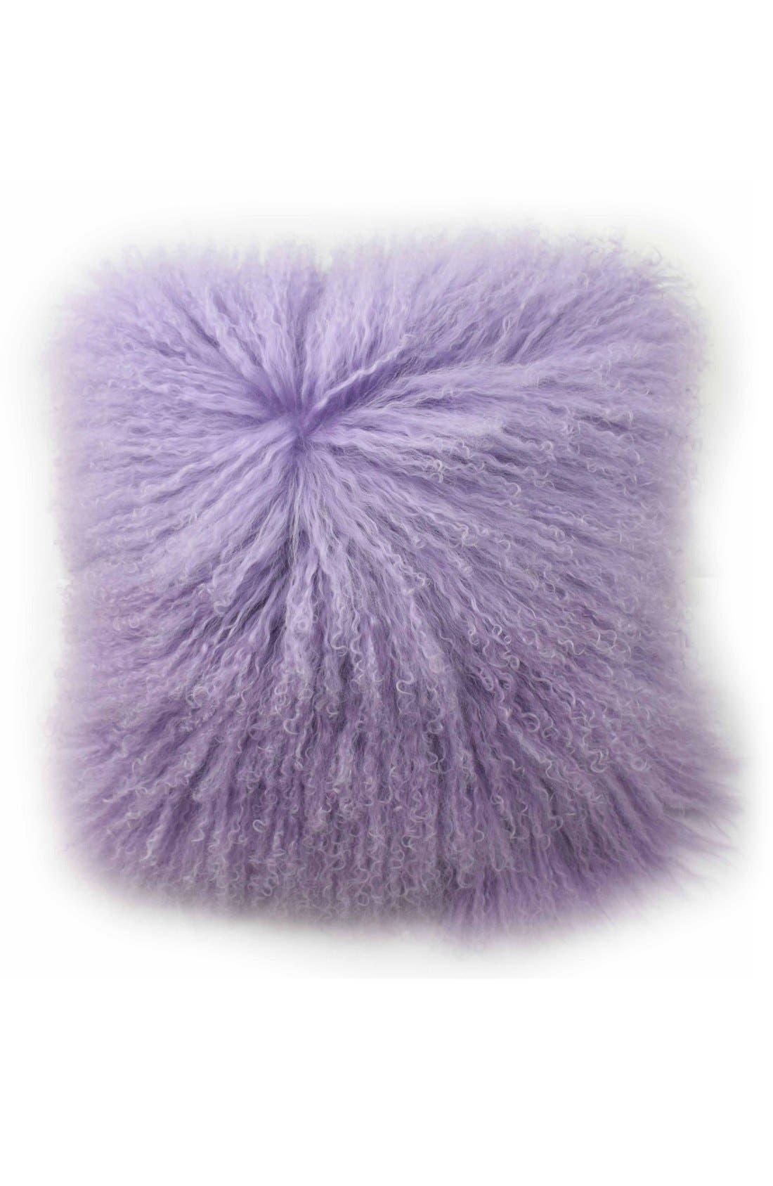 Tanzania Halima Genuine Shearling Pillow,                             Main thumbnail 1, color,                             500