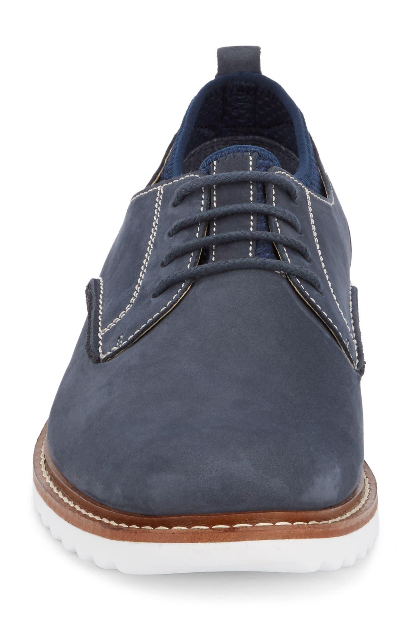 Buck 2.0 Plain Toe Derby,                             Alternate thumbnail 4, color,                             NAVY NUBUCK