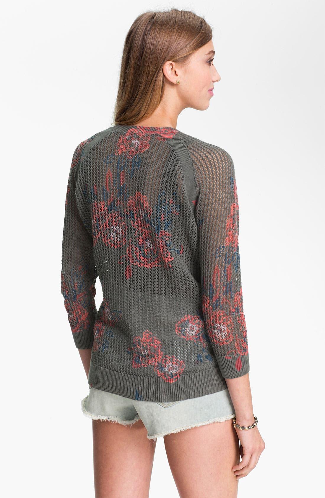 Floral Print Sweater,                             Alternate thumbnail 3, color,                             020