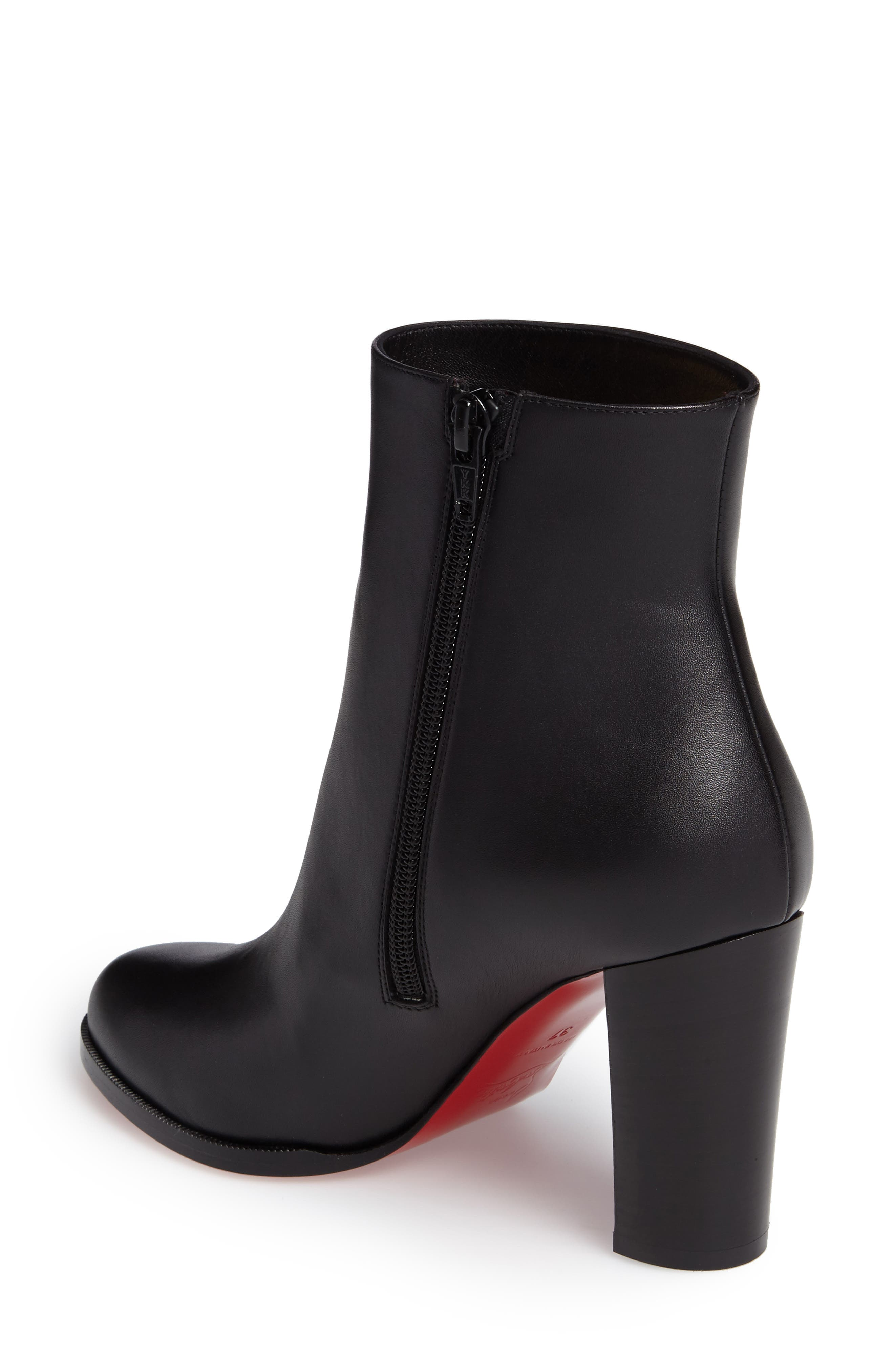 CHRISTIAN LOUBOUTIN,                             Adox Boot,                             Alternate thumbnail 2, color,                             BLACK LEATHER