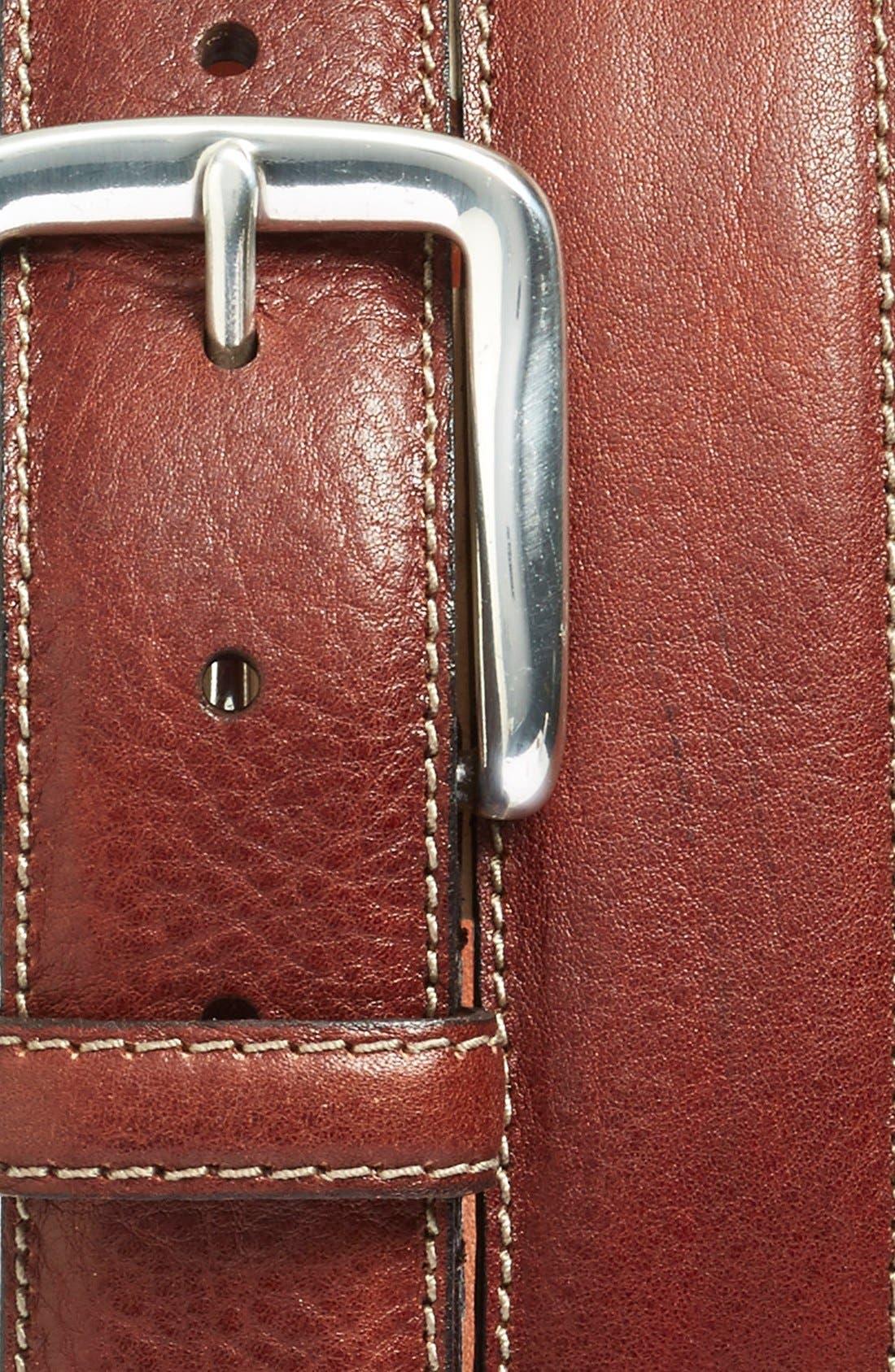 Washed Leather Belt,                             Alternate thumbnail 4, color,                             200