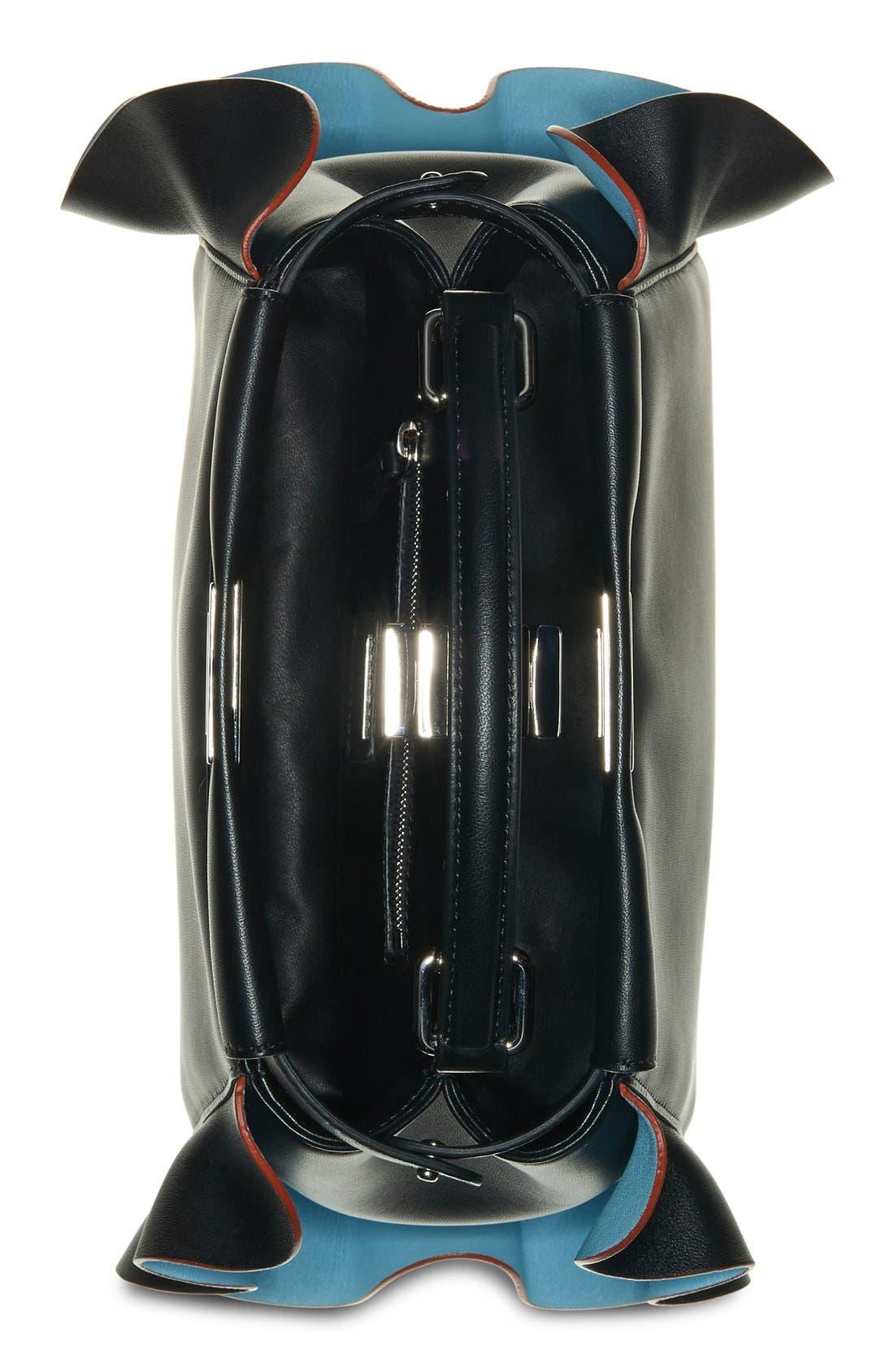 'Mini Peekaboo - Wave' Leather Bag,                             Alternate thumbnail 3, color,                             015