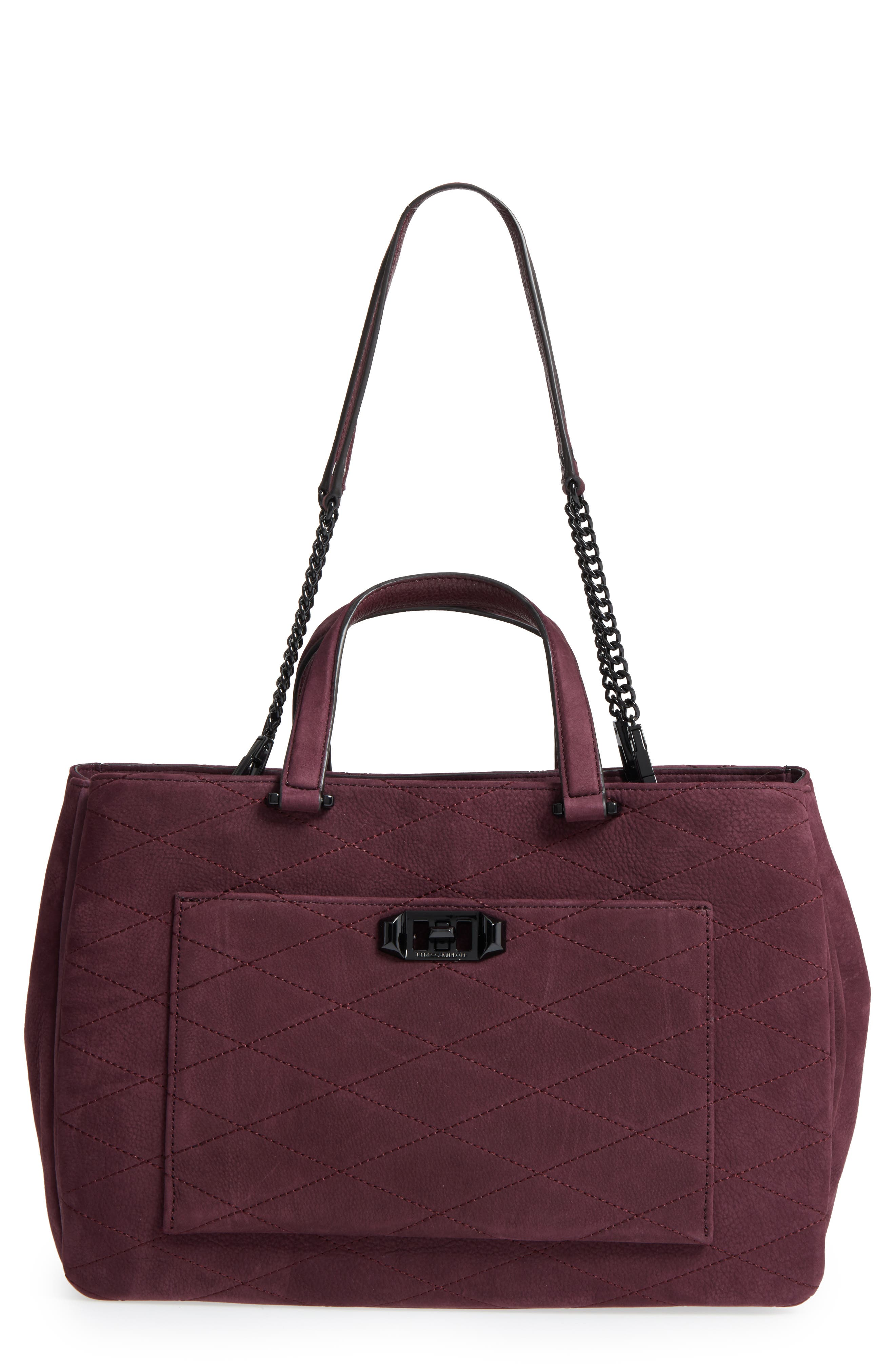 Je T'Aime Leather Laptop Work Tote,                         Main,                         color,