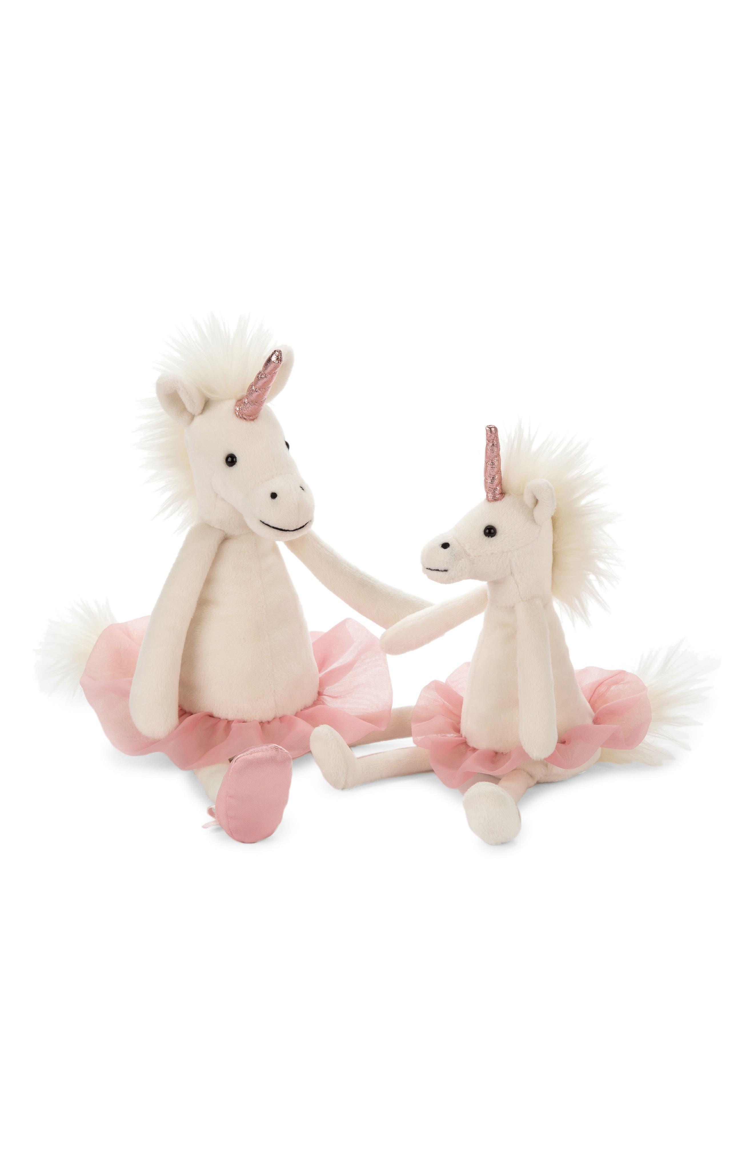 Dancing Darcy Unicorn Stuffed Animal,                             Alternate thumbnail 2, color,                             CREAM / PINK