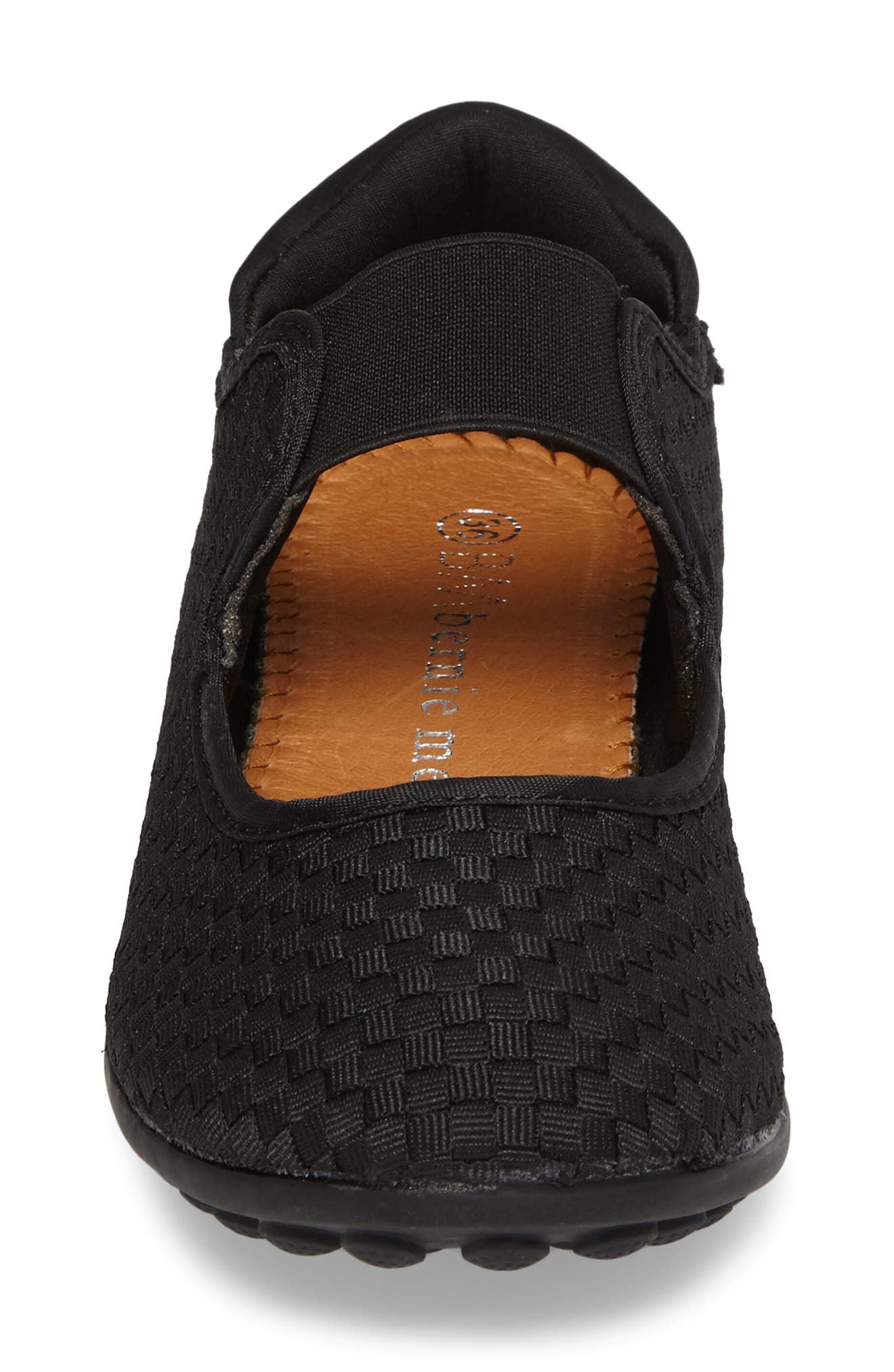 Bernie Mev Kendra Mary Jane Sneaker,                             Alternate thumbnail 4, color,                             BLACK FABRIC
