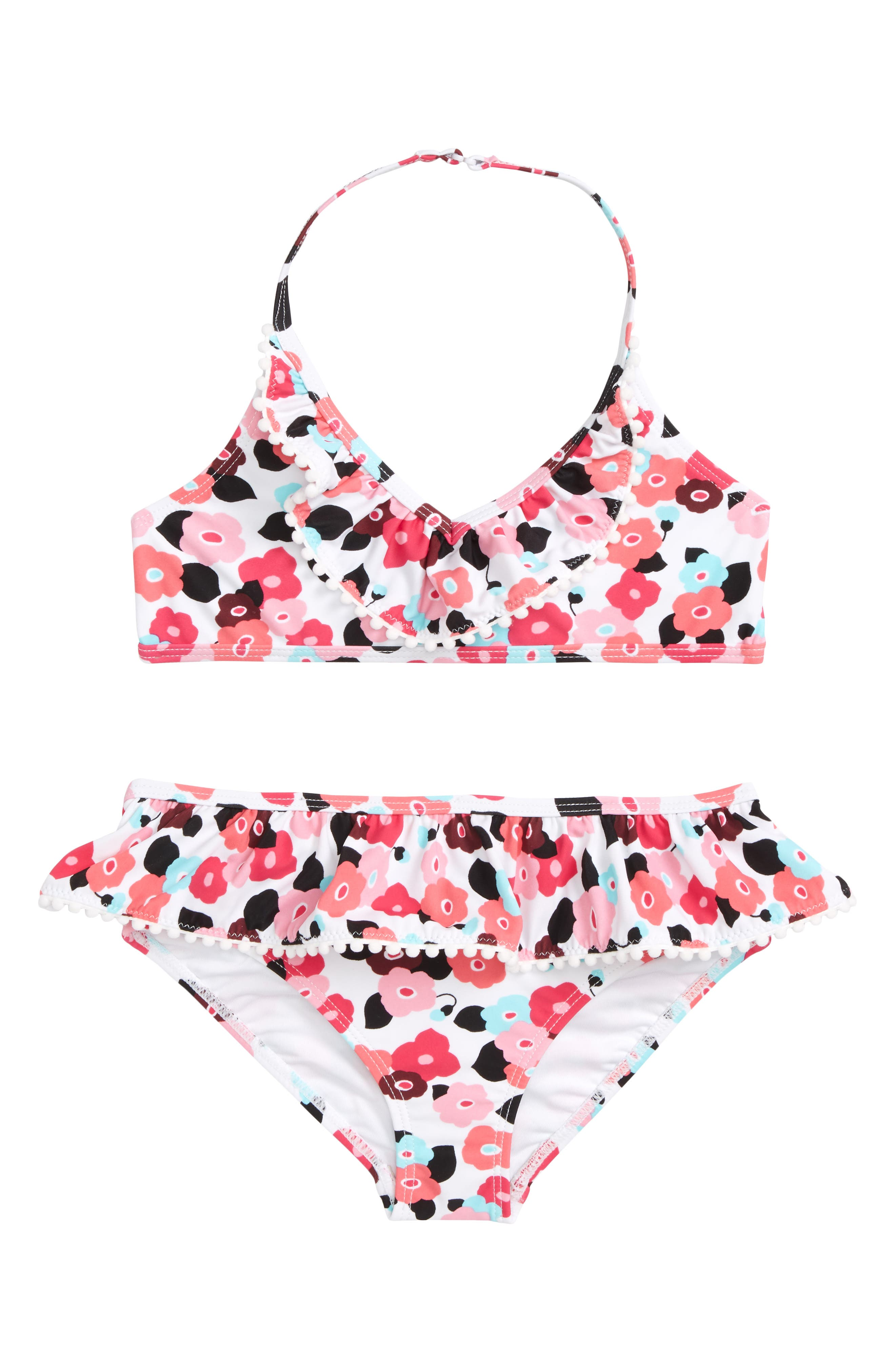blooming floral two-piece swimsuit,                             Main thumbnail 1, color,                             650