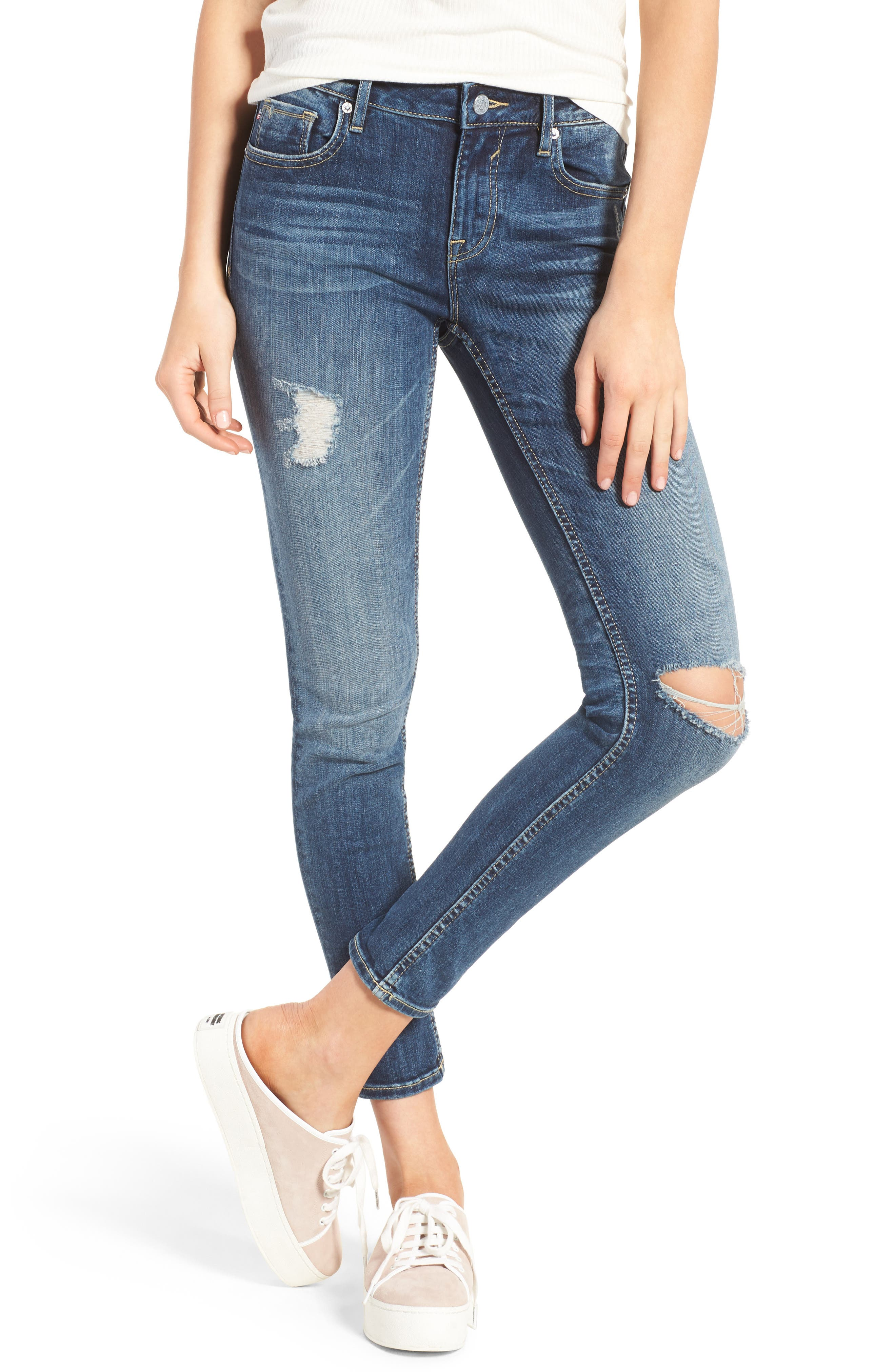 Thompson Tomboy Ripped Jeans,                             Main thumbnail 1, color,                             403