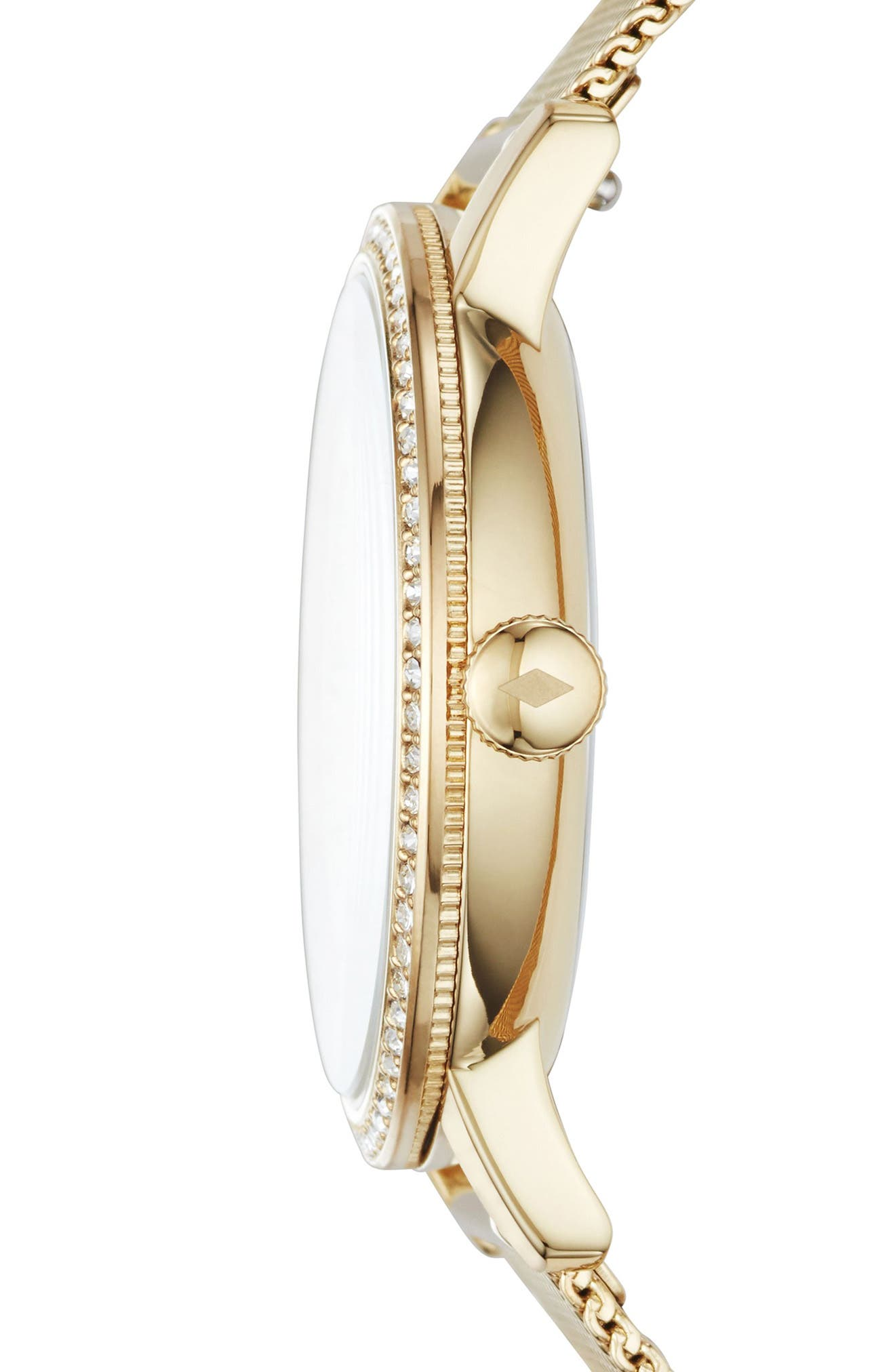 Neely Crystal Mesh Strap Watch, 34mm,                             Alternate thumbnail 6, color,