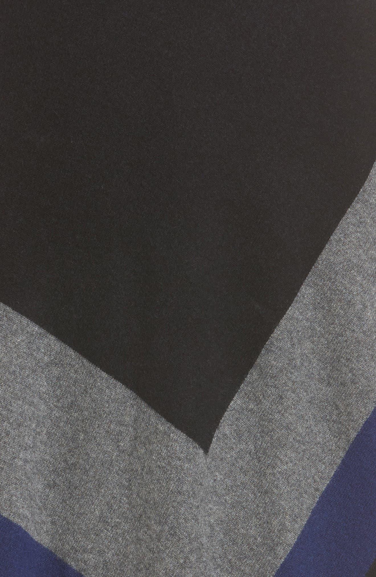 Tassel Trim Cashmere Wrap,                             Alternate thumbnail 5, color,                             001