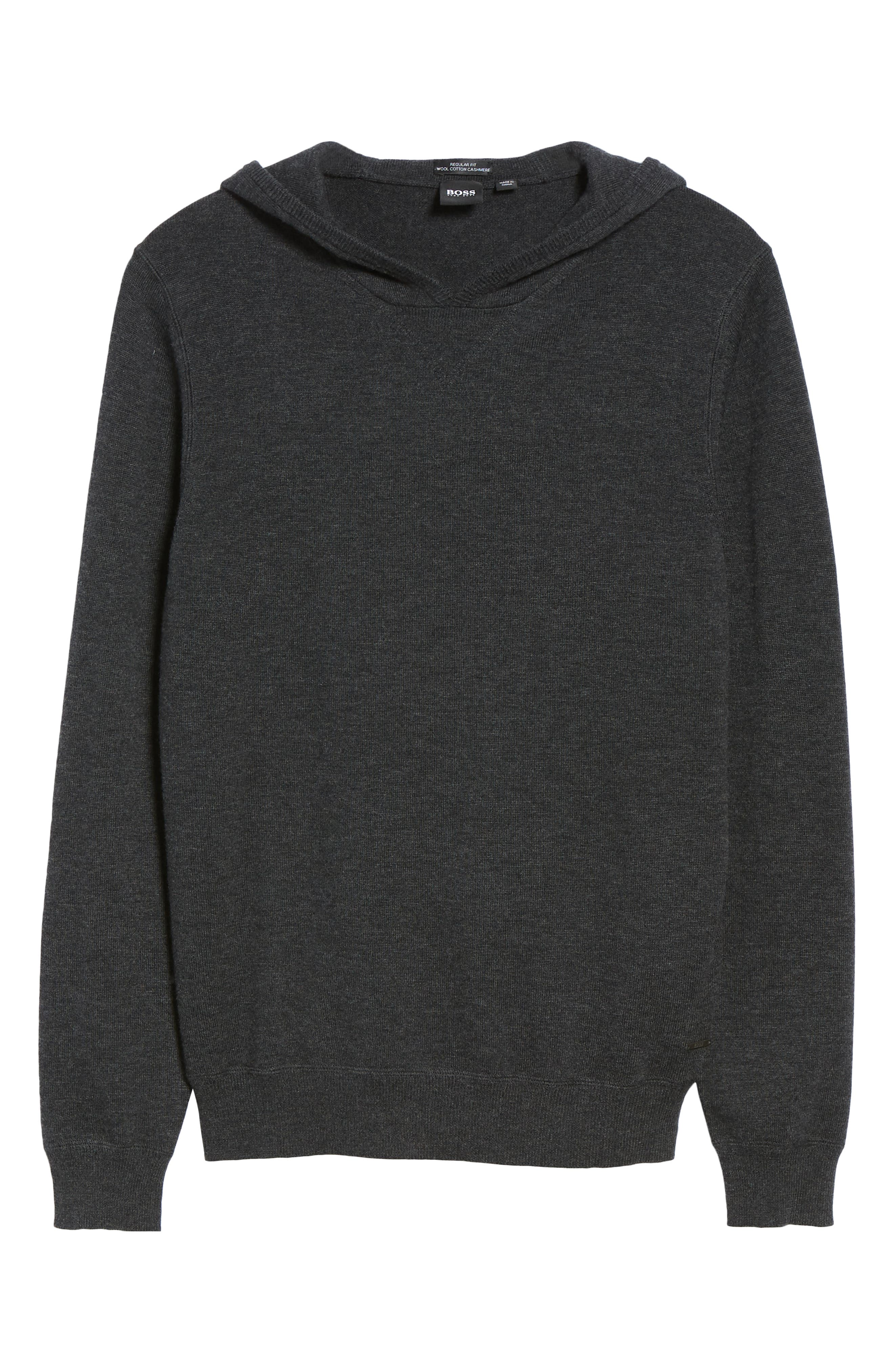 Efabio Wool Blend Hoodie,                             Alternate thumbnail 6, color,                             GREY