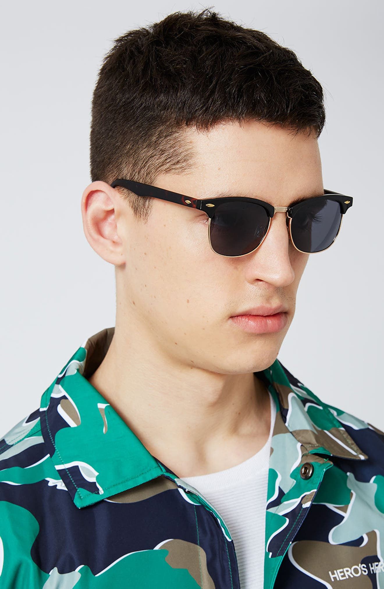 Clubmaster 50mm Sunglasses,                             Alternate thumbnail 4, color,                             200