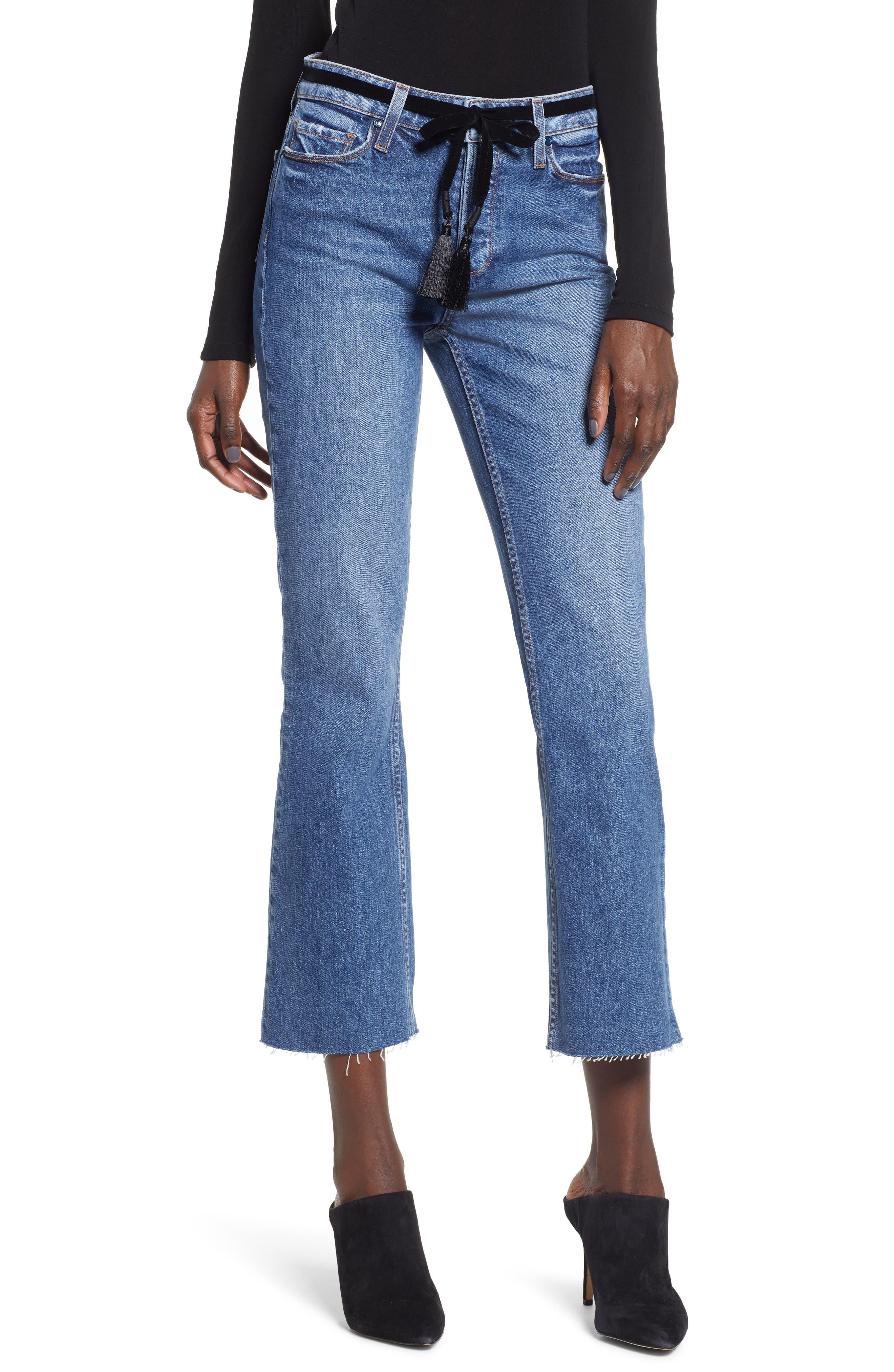 Vintage Colette Cropped Flare Jeans In Hutton Tassel