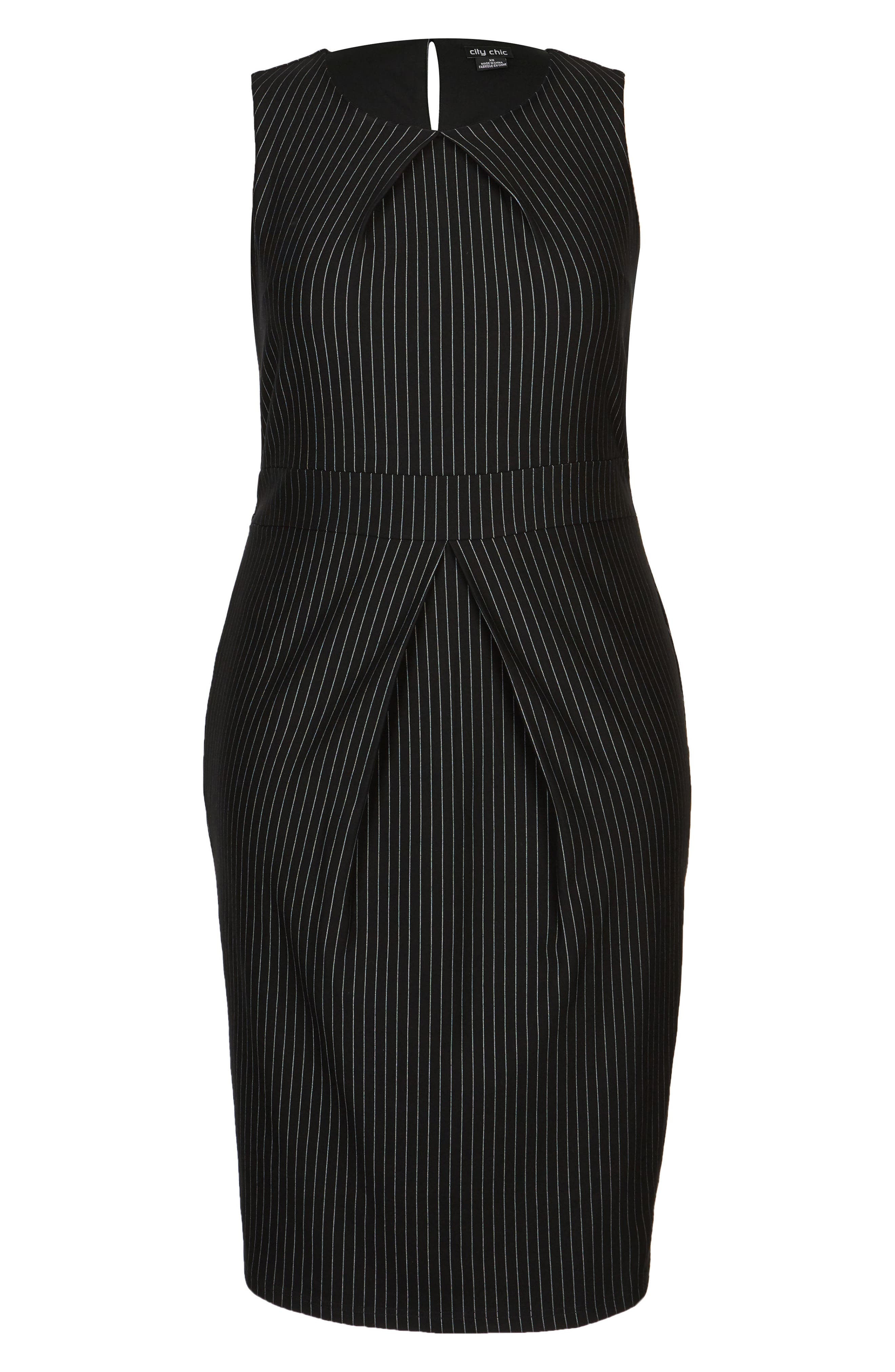 Aster Stripe Sheath Dress,                             Alternate thumbnail 3, color,                             PIN STRIPE