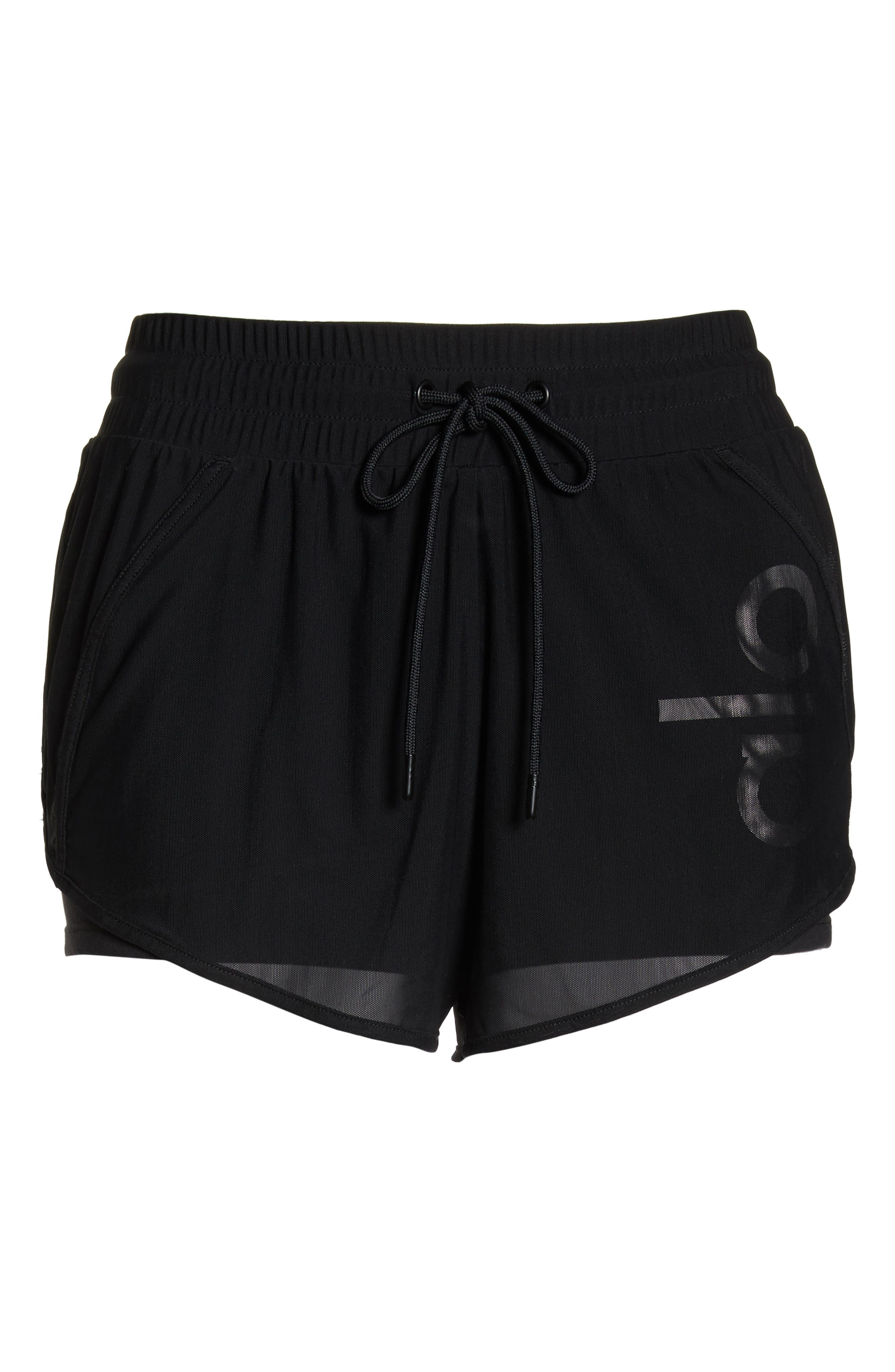Ambience Shorts,                             Alternate thumbnail 7, color,                             BLACK/ BLACK/ ALO/ WHITE