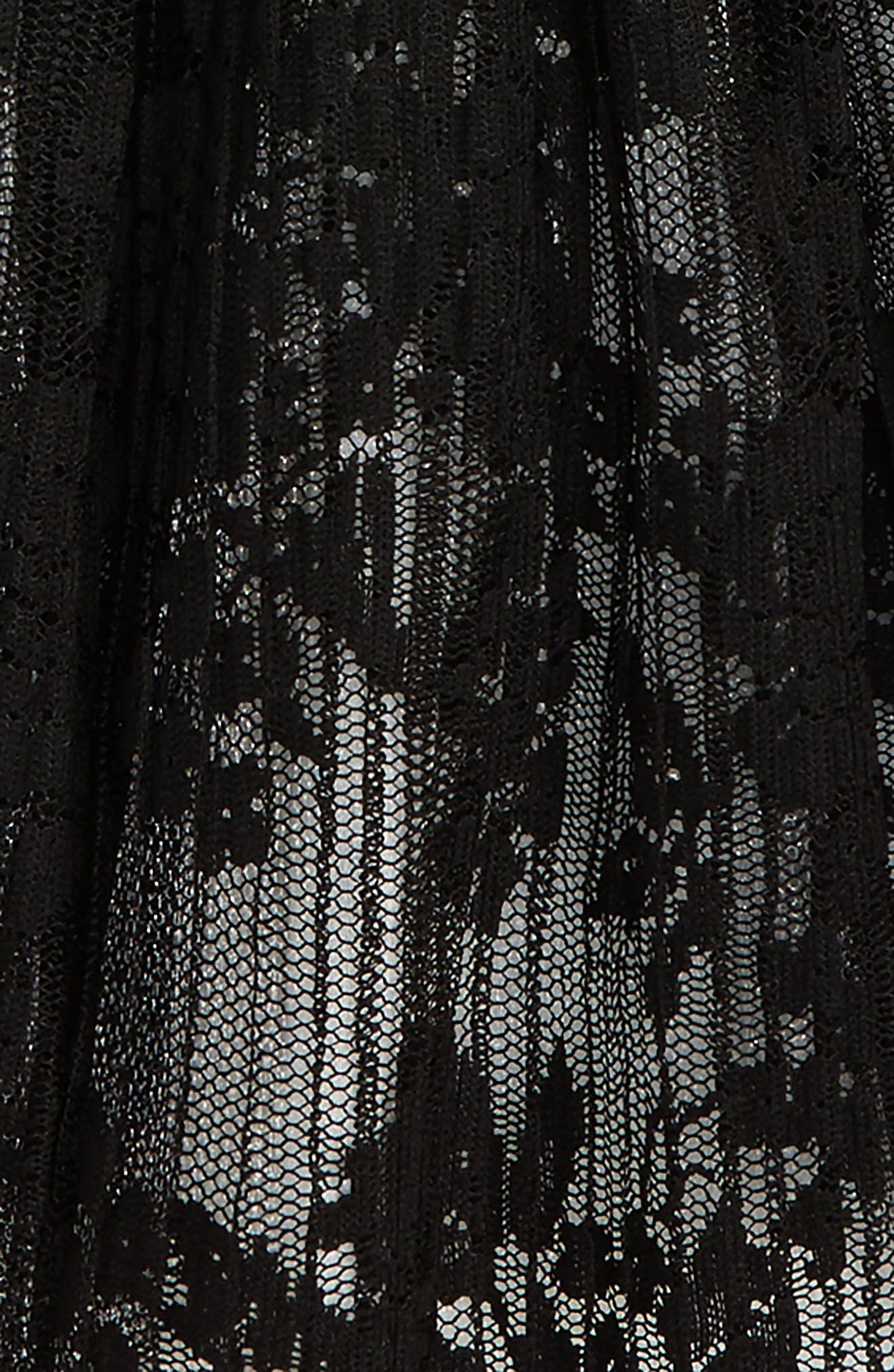 Lace Tutu Skirt,                             Alternate thumbnail 2, color,                             BLACK