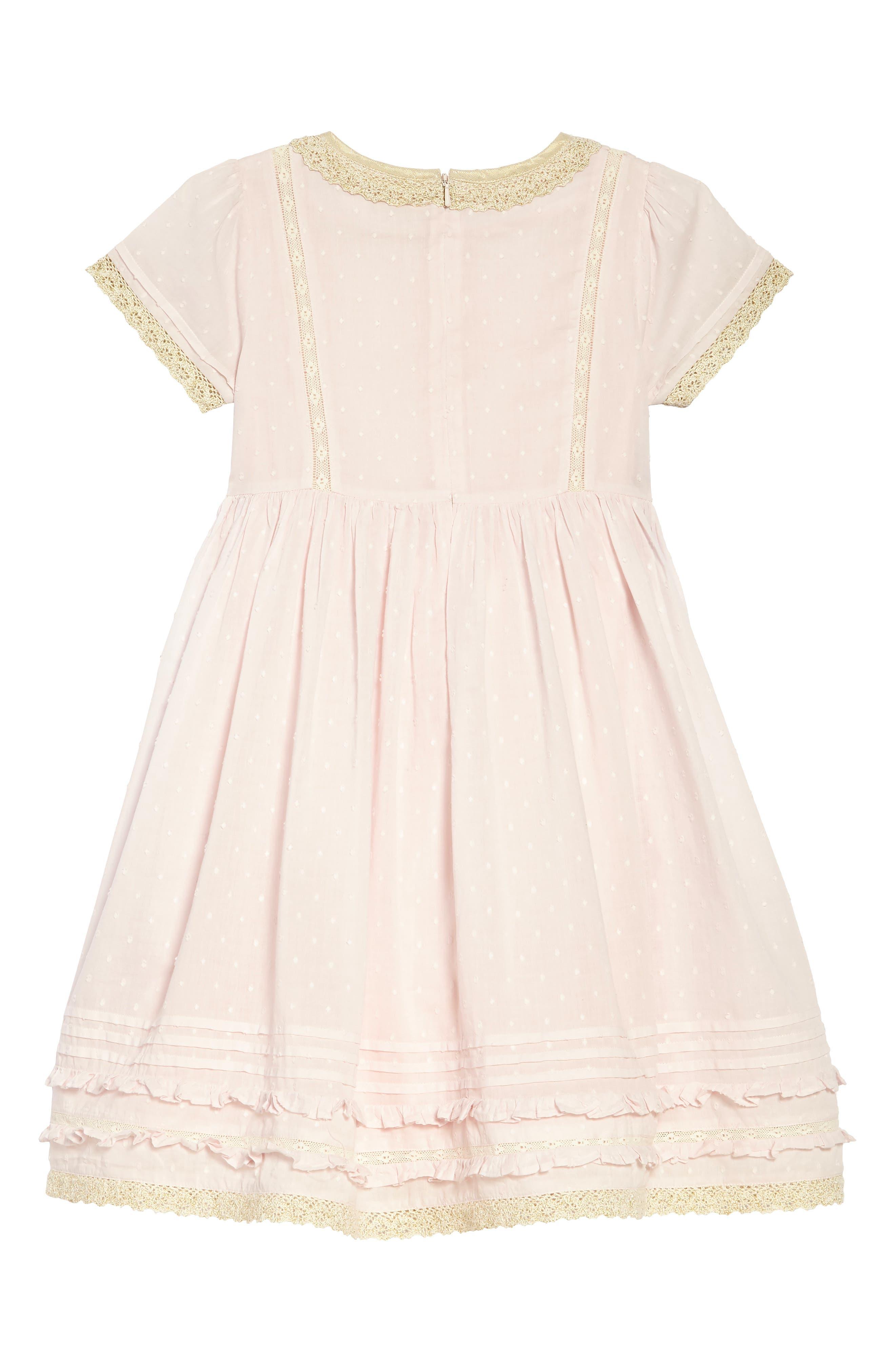Lace Trim Fit & Flare Dress,                             Alternate thumbnail 2, color,                             684