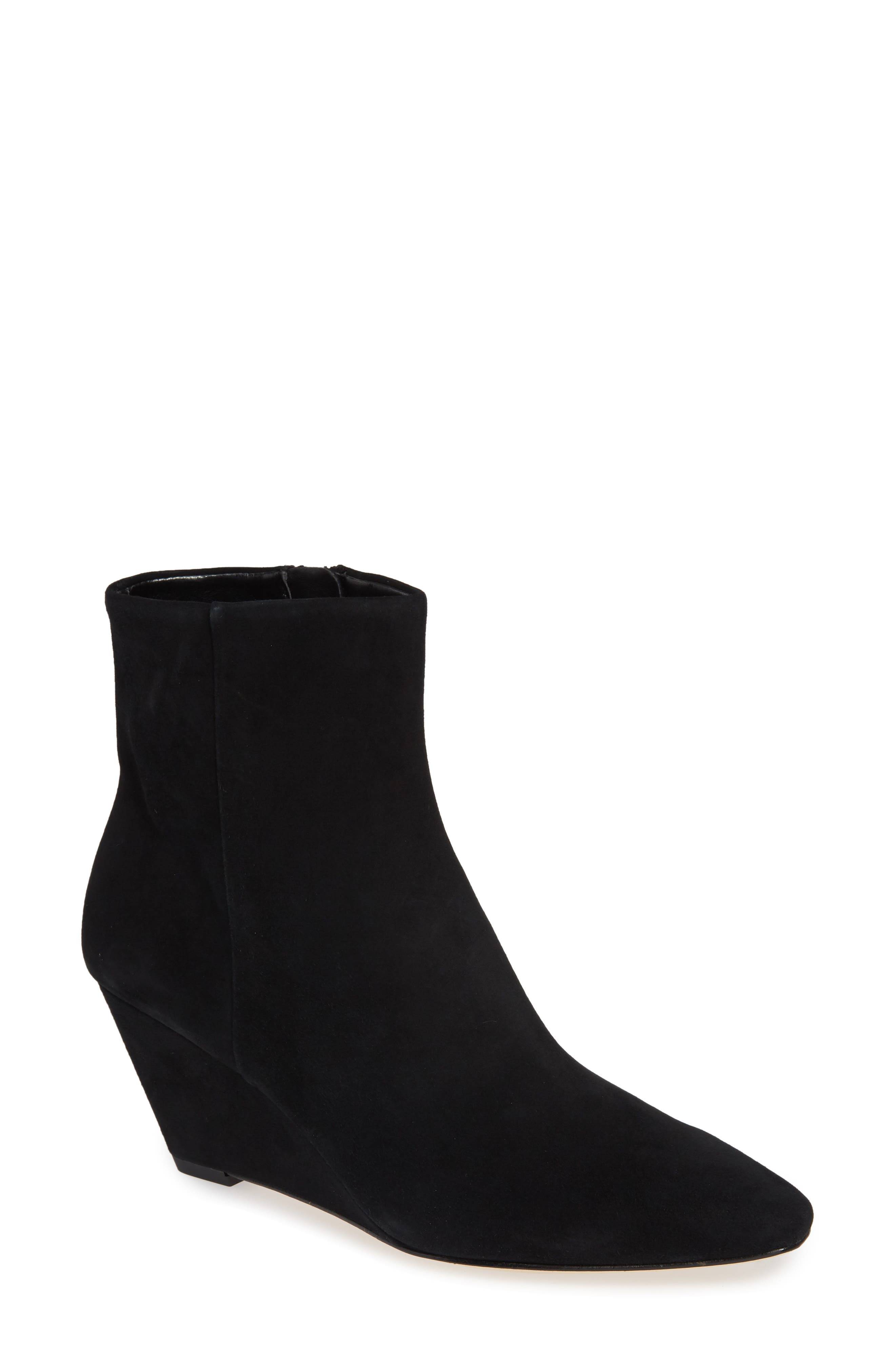 Jae Wedge Bootie,                             Main thumbnail 1, color,                             BLACK