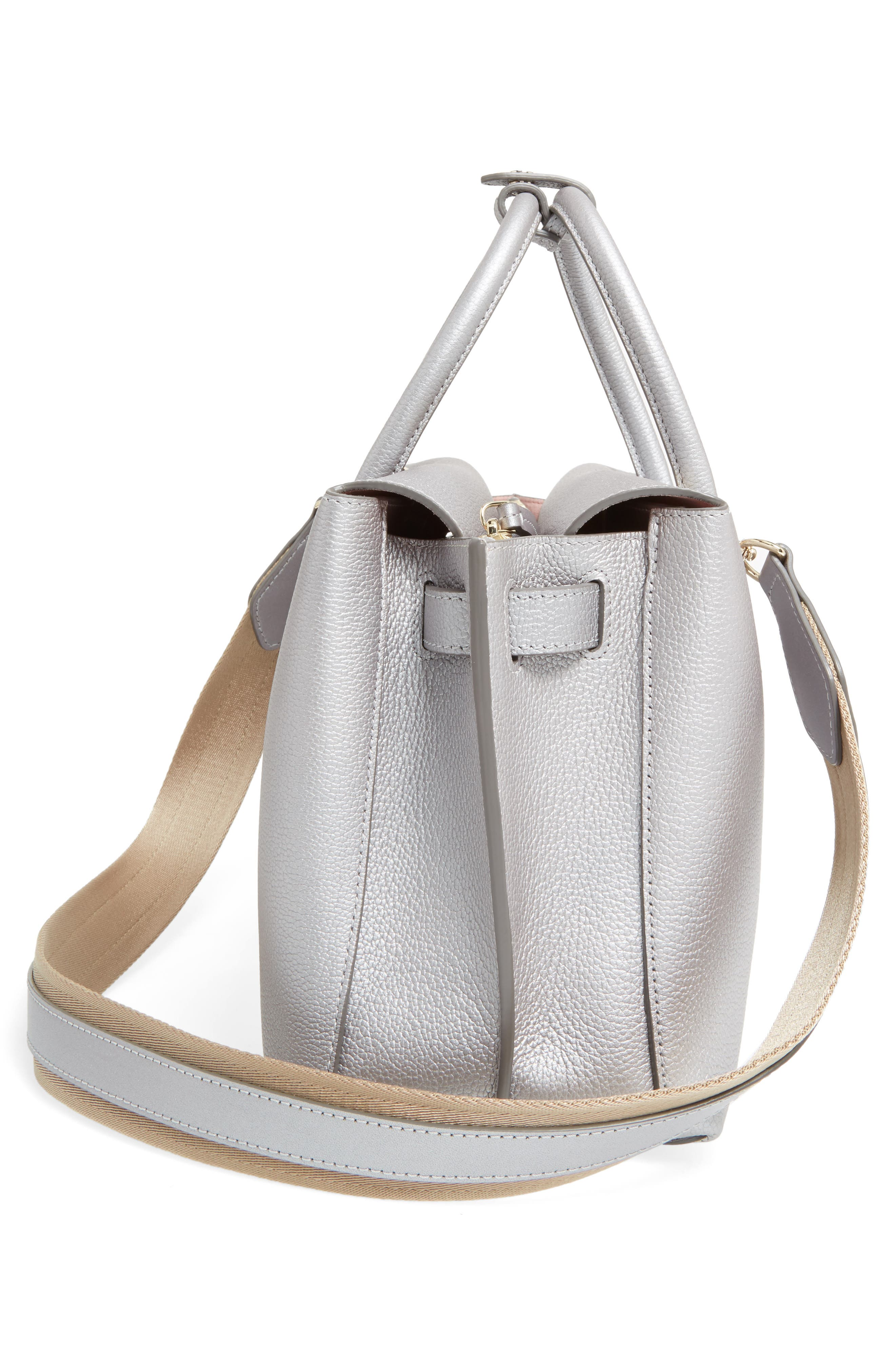 Medium Milla Leather Tote,                             Alternate thumbnail 5, color,                             045