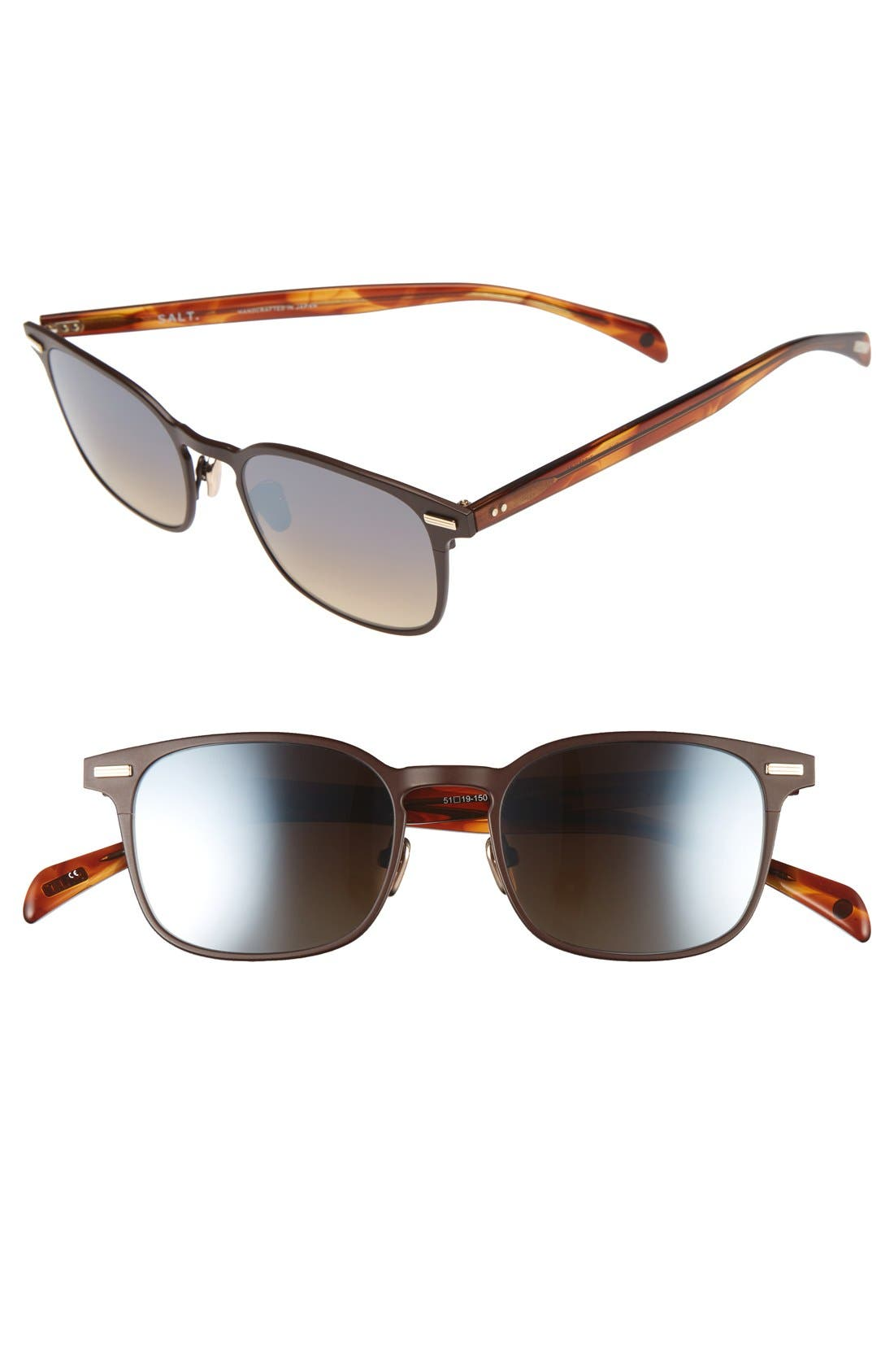 Clarence 51mm Polarized Sunglasses,                         Main,                         color, TURKISH COFFEE
