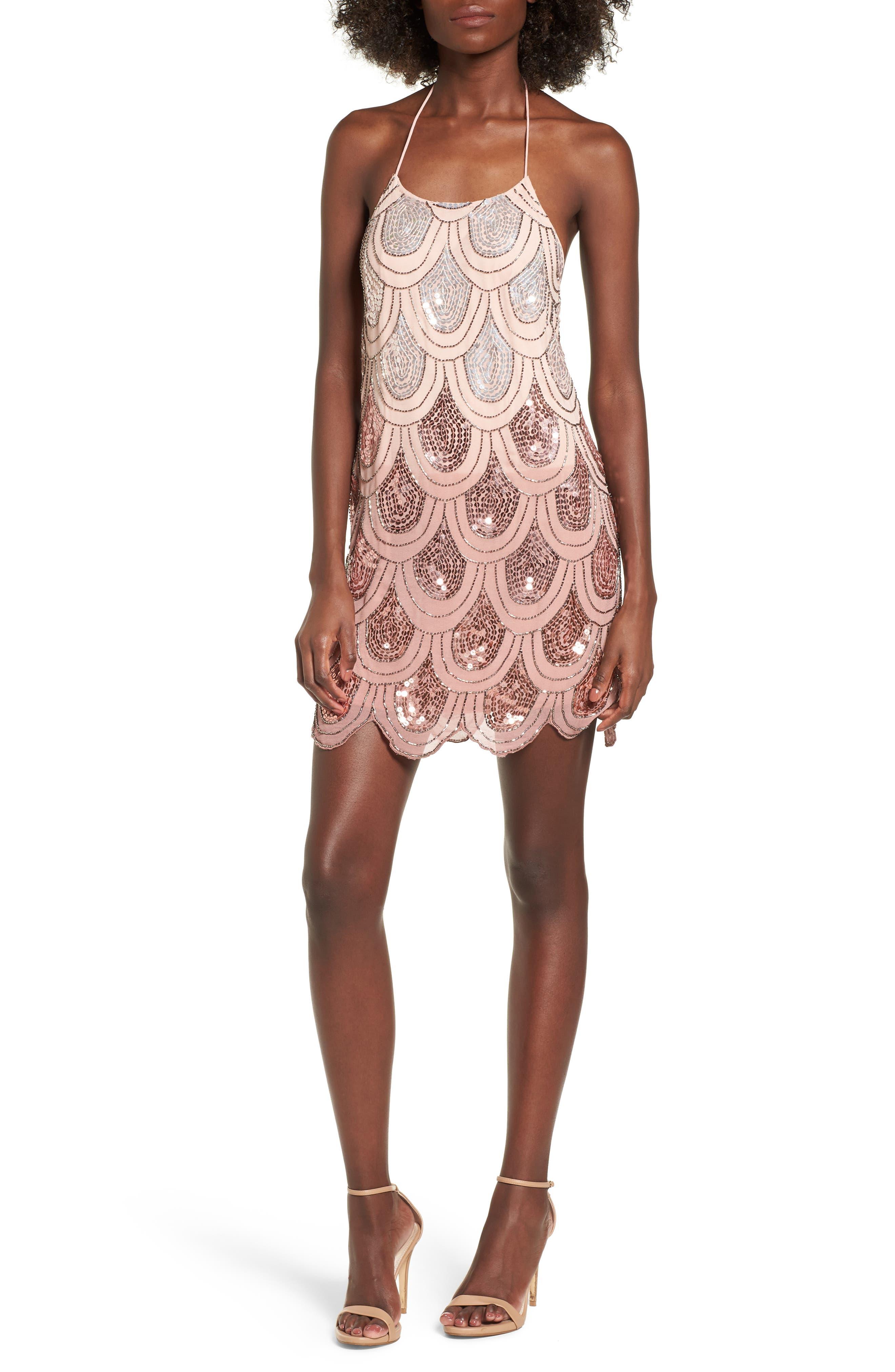 Dame Sequin Minidress,                             Main thumbnail 2, color,