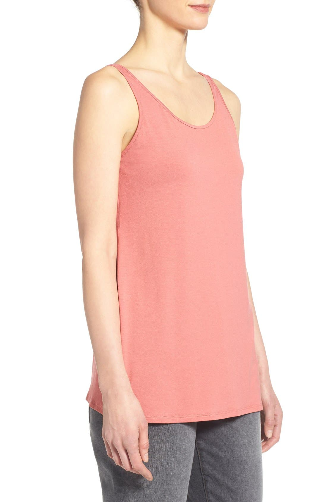 Jersey Scoop Neck Long Tank,                             Alternate thumbnail 64, color,