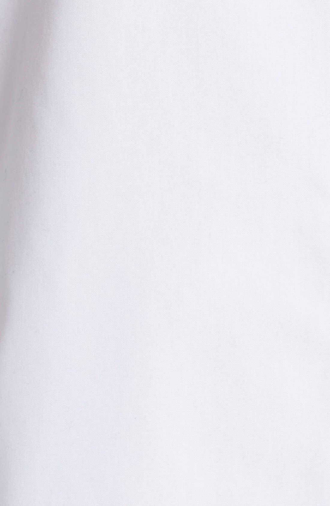 Paige Non-Iron Cotton Shirt,                             Alternate thumbnail 5, color,                             WHITE
