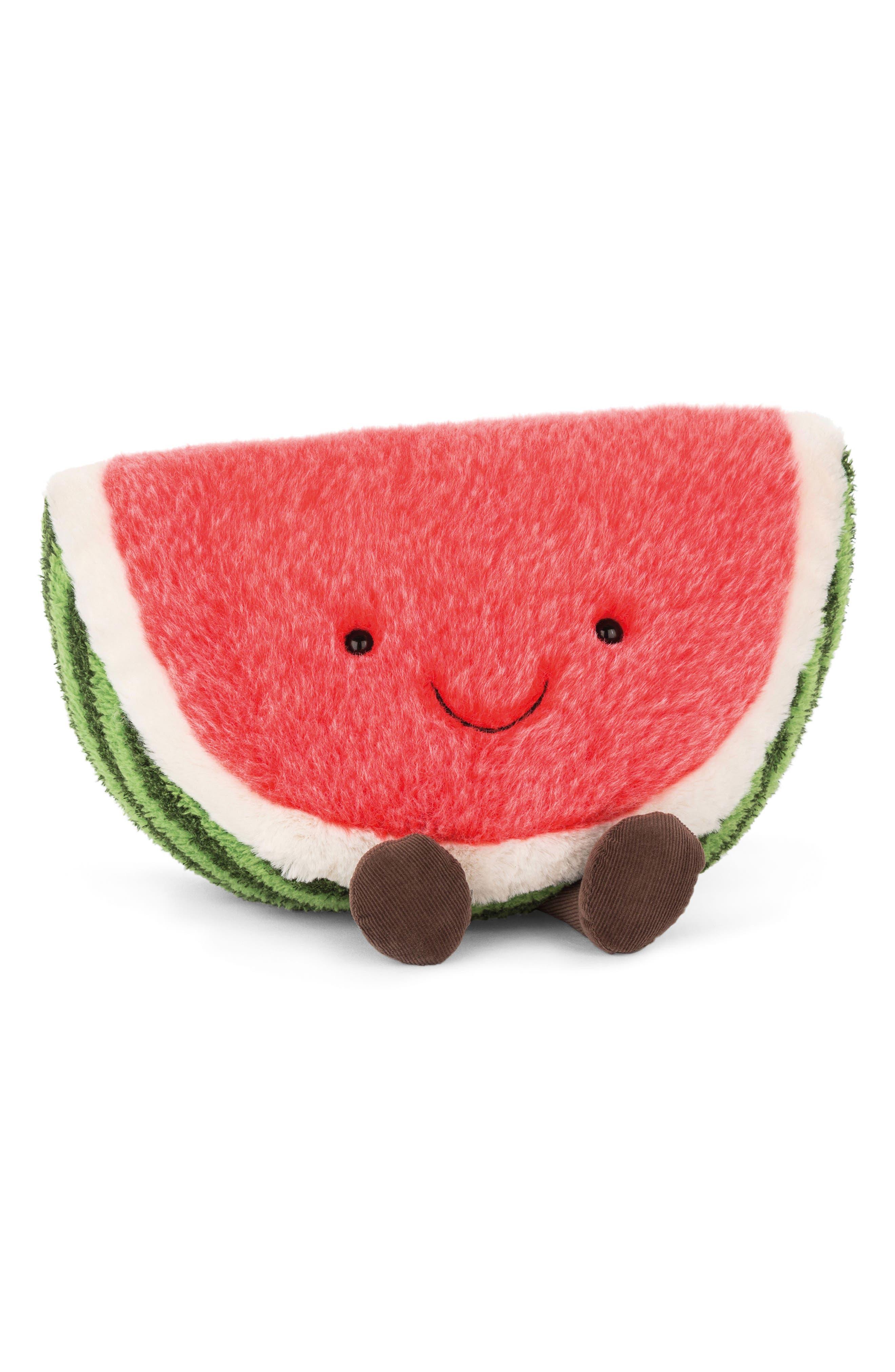 Amuseable Watermelon Plush Toy,                             Main thumbnail 1, color,                             600