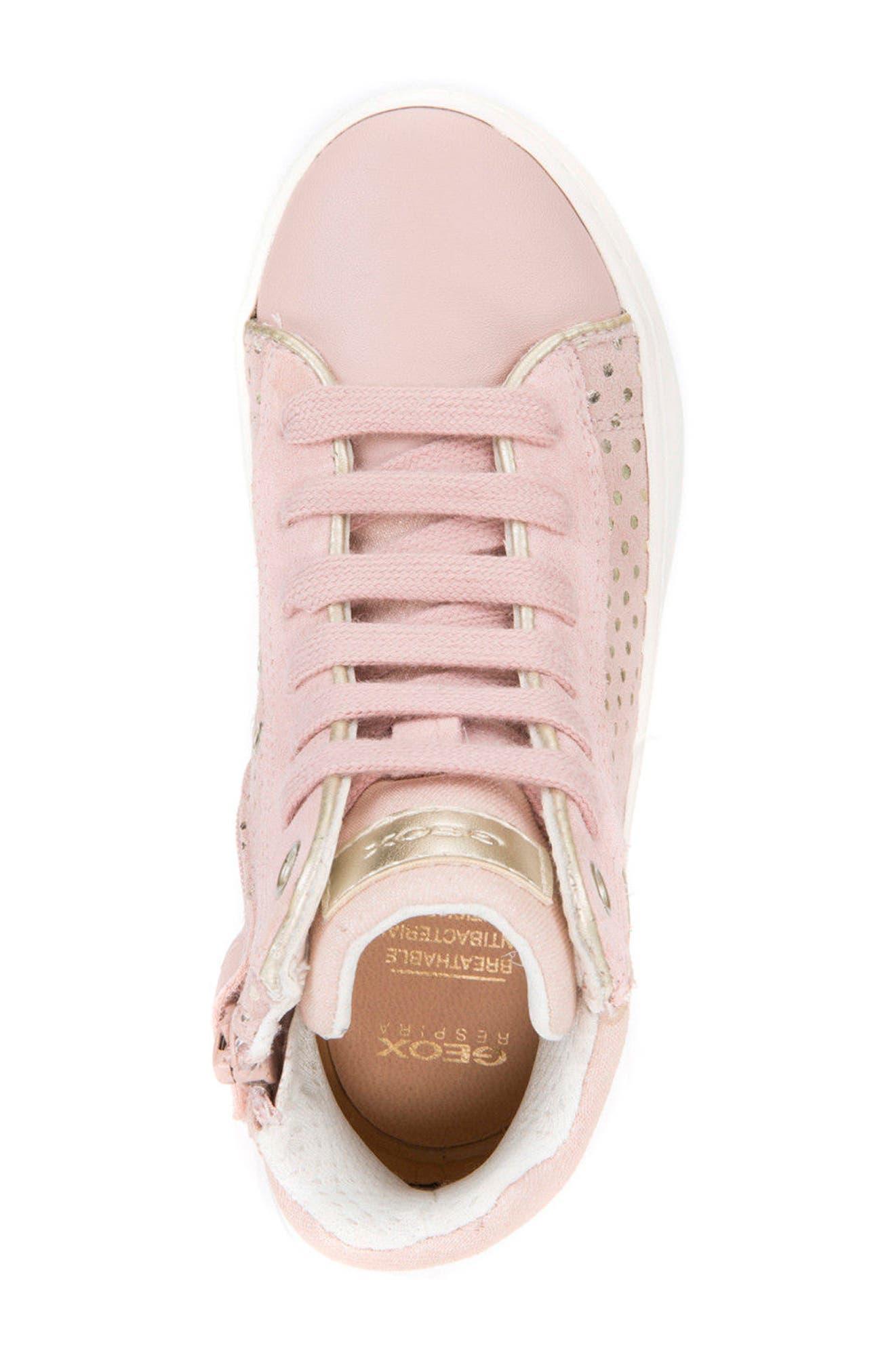 Kilwi High Top Zip Sneaker,                             Alternate thumbnail 5, color,                             ROSE