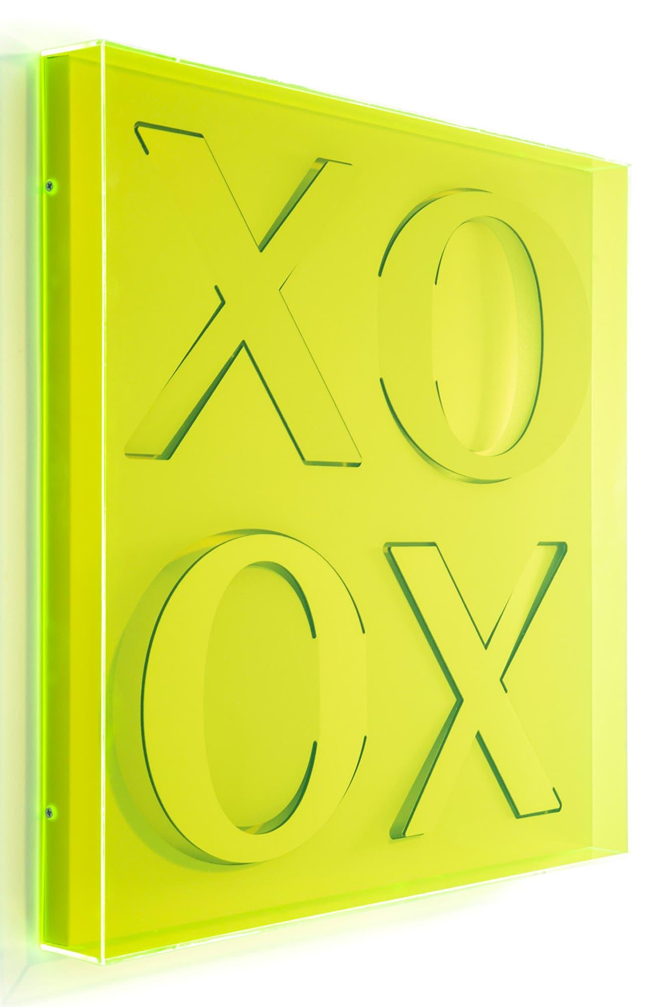 XOXO Wall Art,                             Alternate thumbnail 2, color,                             GREEN