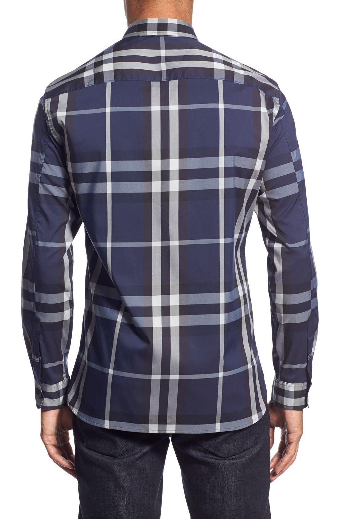 Nelson Check Sport Shirt,                             Alternate thumbnail 42, color,