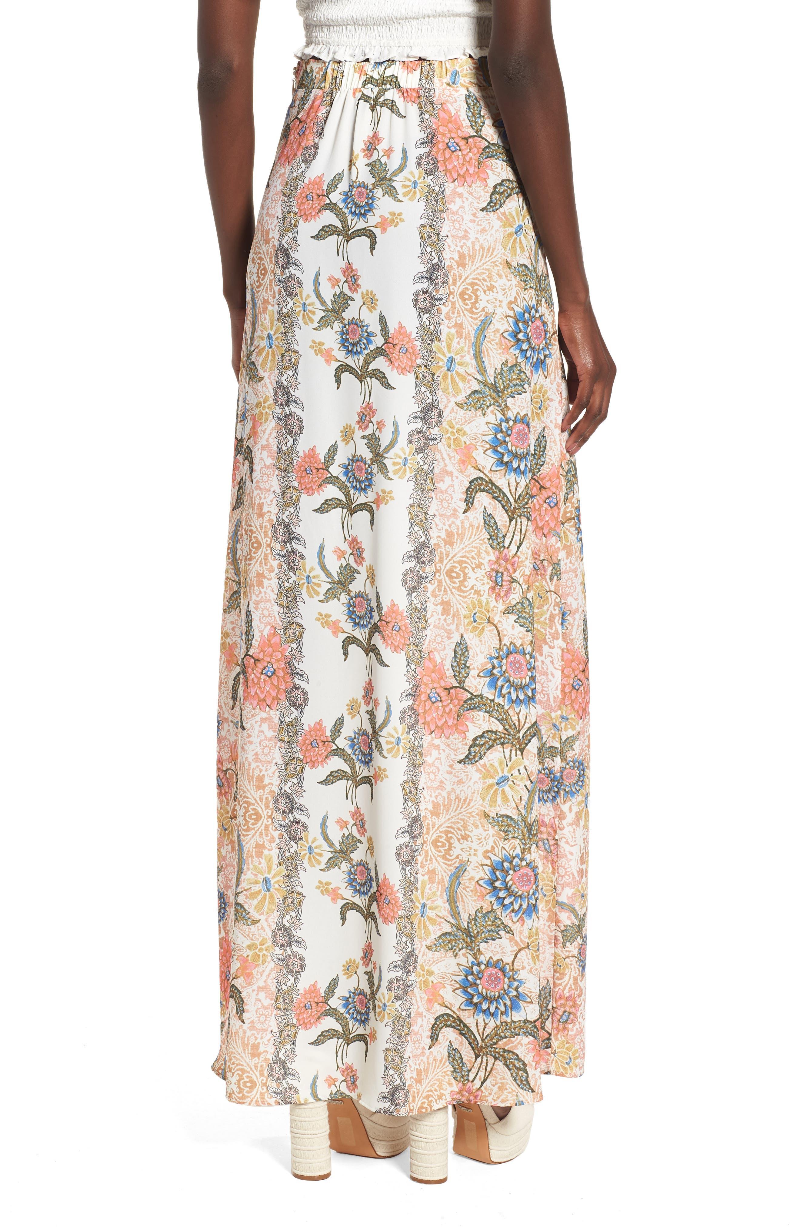 Floral Maxi Skirt,                             Alternate thumbnail 2, color,                             650