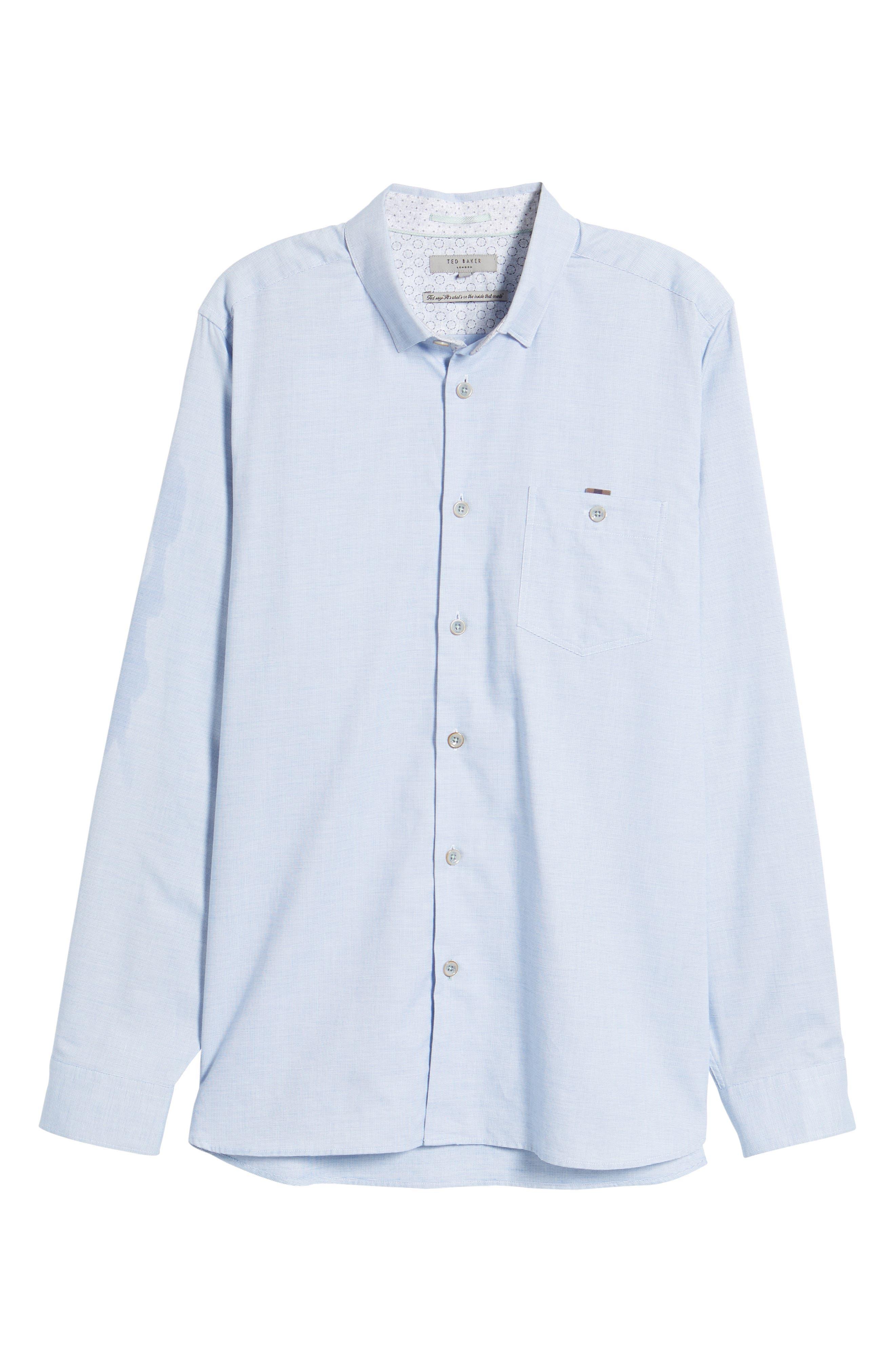Slim Fit Textured Sport Shirt,                             Alternate thumbnail 28, color,