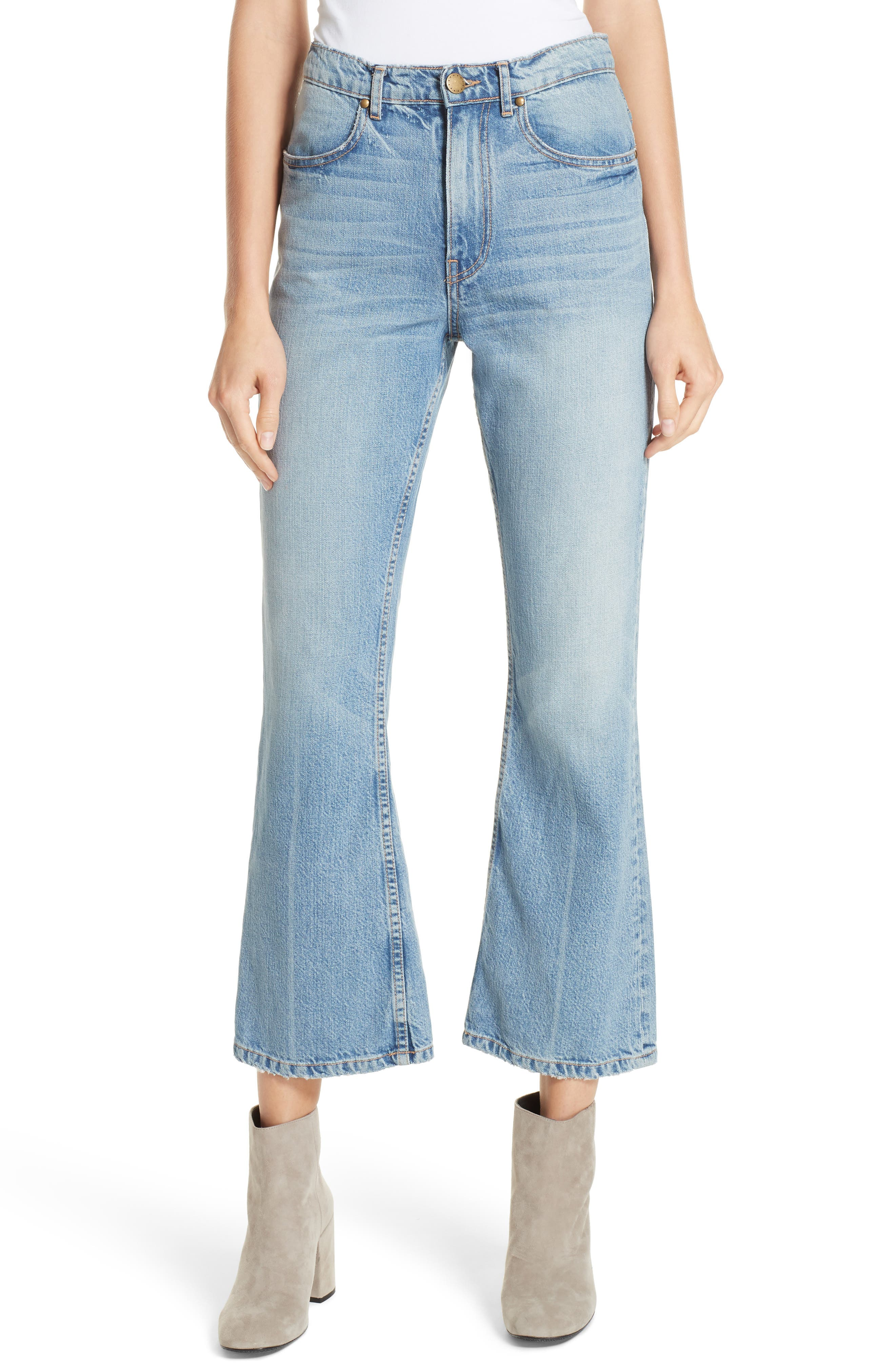 Western Crop Bootcut Jeans,                         Main,                         color, TENNESSEE WASH