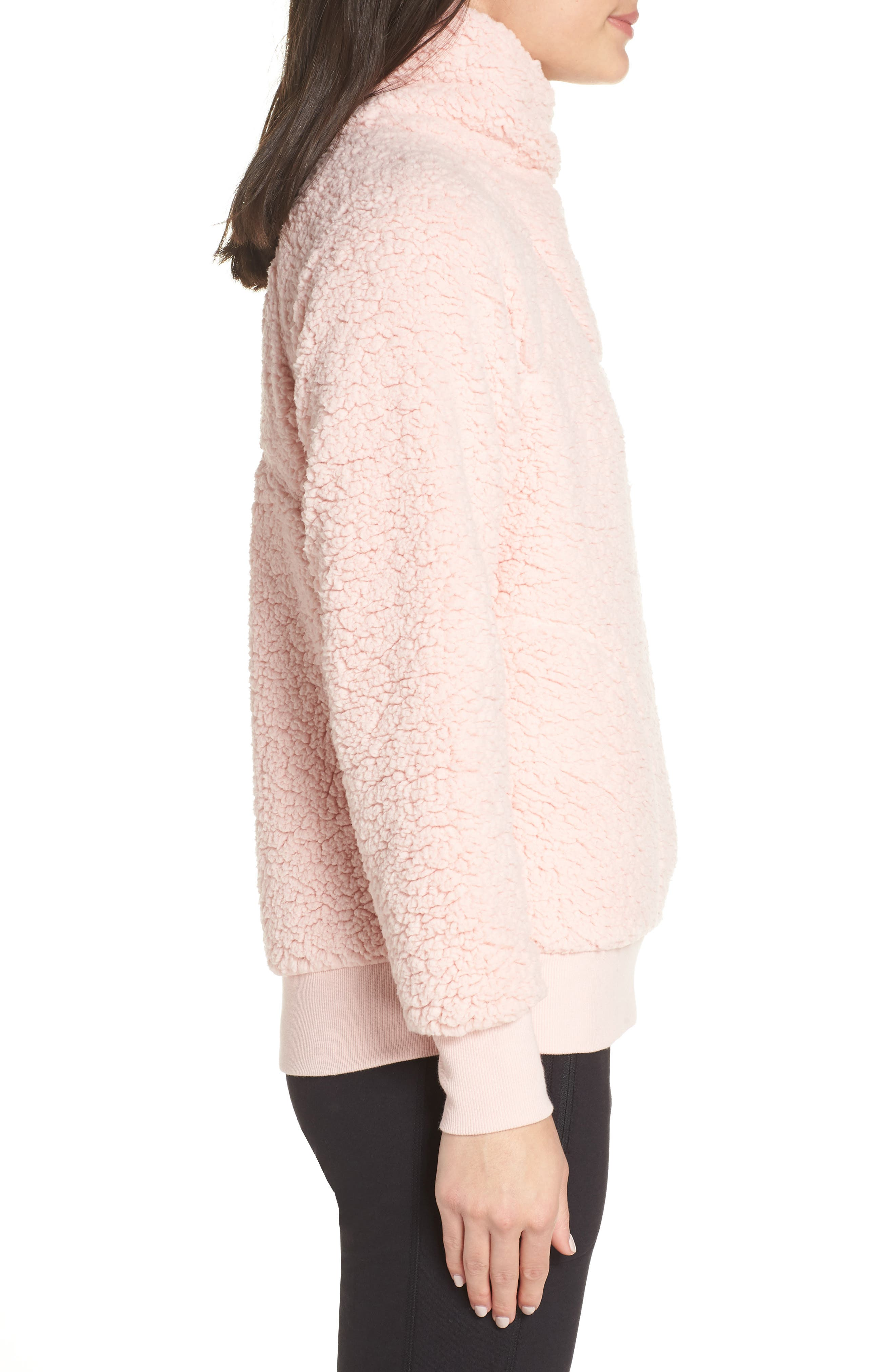 Shear Up Pullover,                             Alternate thumbnail 3, color,                             PINK PEACHSKIN