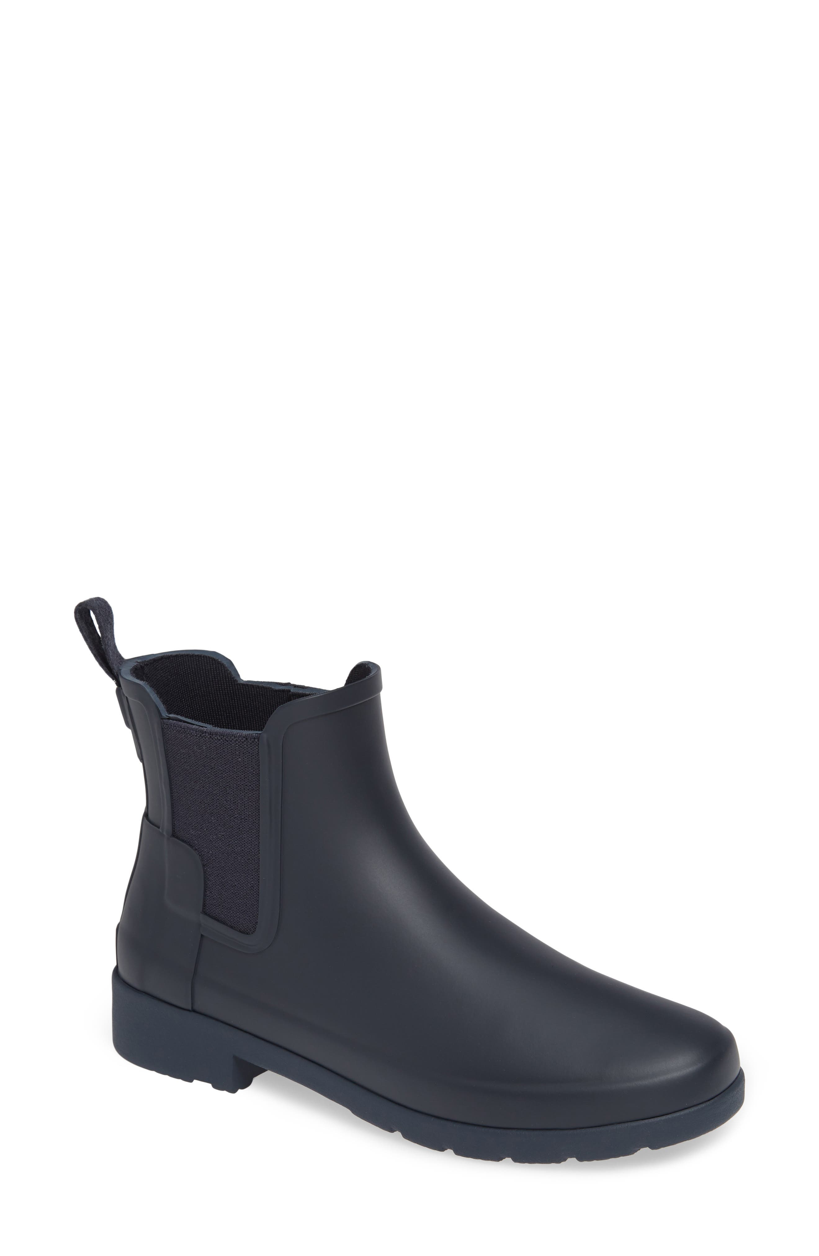 Refined Chelsea Boot,                             Main thumbnail 1, color,                             NAVY