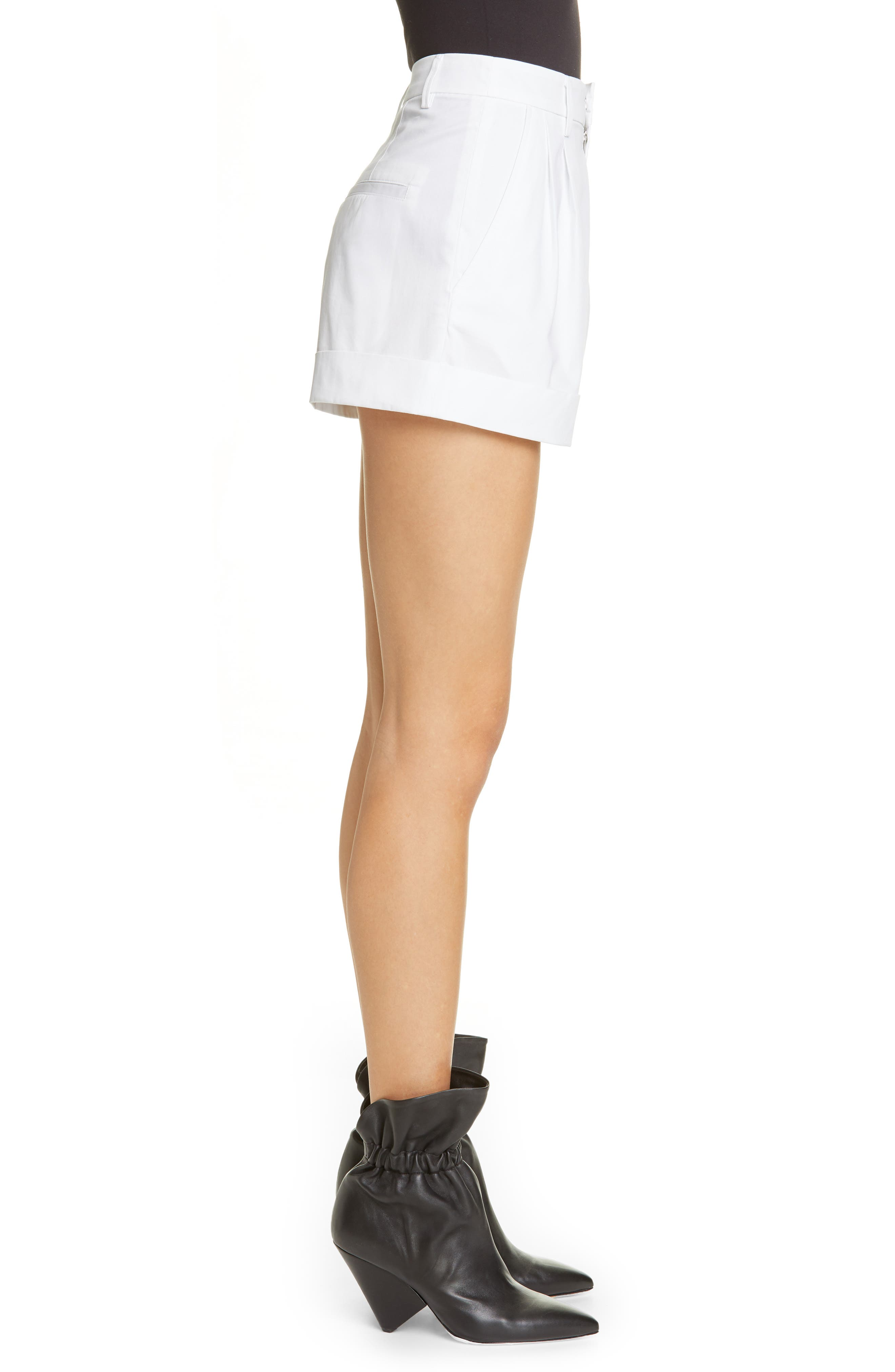 Olbia Cotton Shorts,                             Alternate thumbnail 3, color,                             WHITE