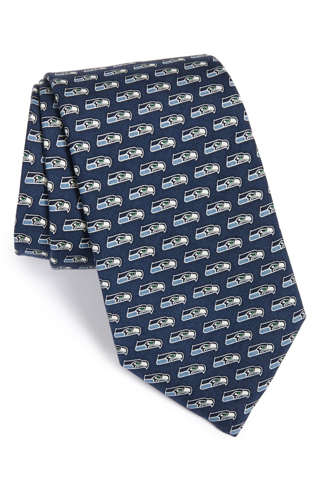 Seattle Seahawks - NFL Woven Silk Tie,                             Main thumbnail 1, color,                             414