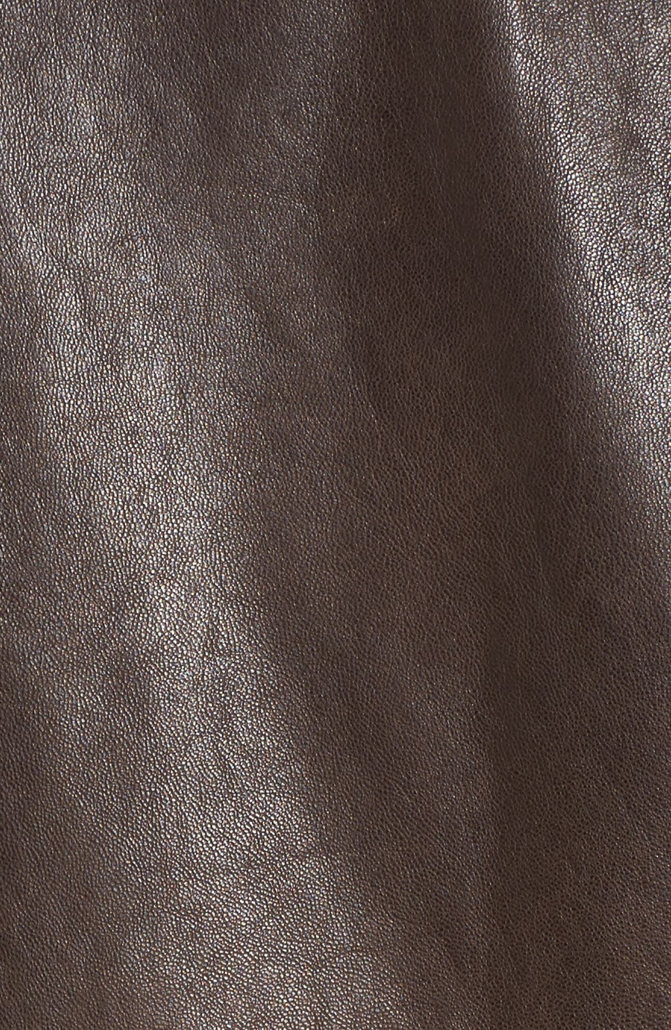 Leather Bomber Jacket,                             Alternate thumbnail 12, color,