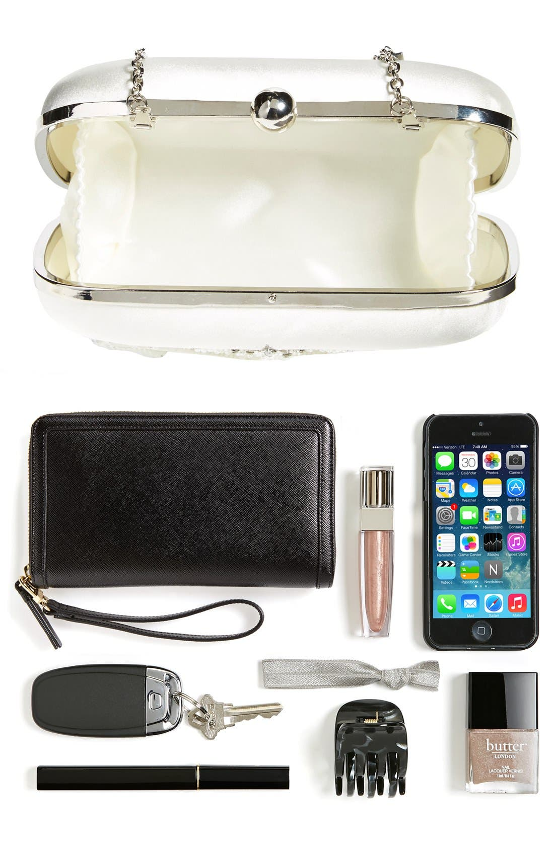 'Narke' Bridal Minaudiere,                             Alternate thumbnail 3, color,                             900