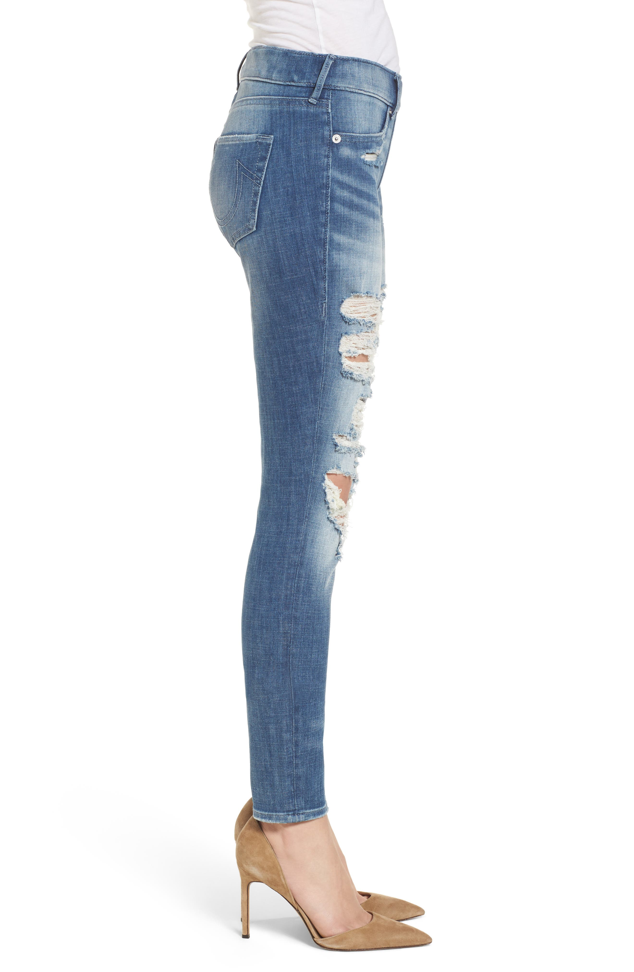 Jennie Runaway Legging Jeans,                             Alternate thumbnail 3, color,                             401